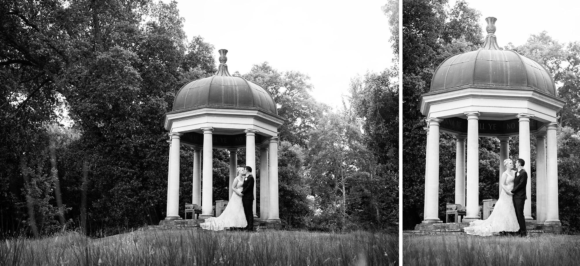 Bignor Park wedding photography bride and groom portrait
