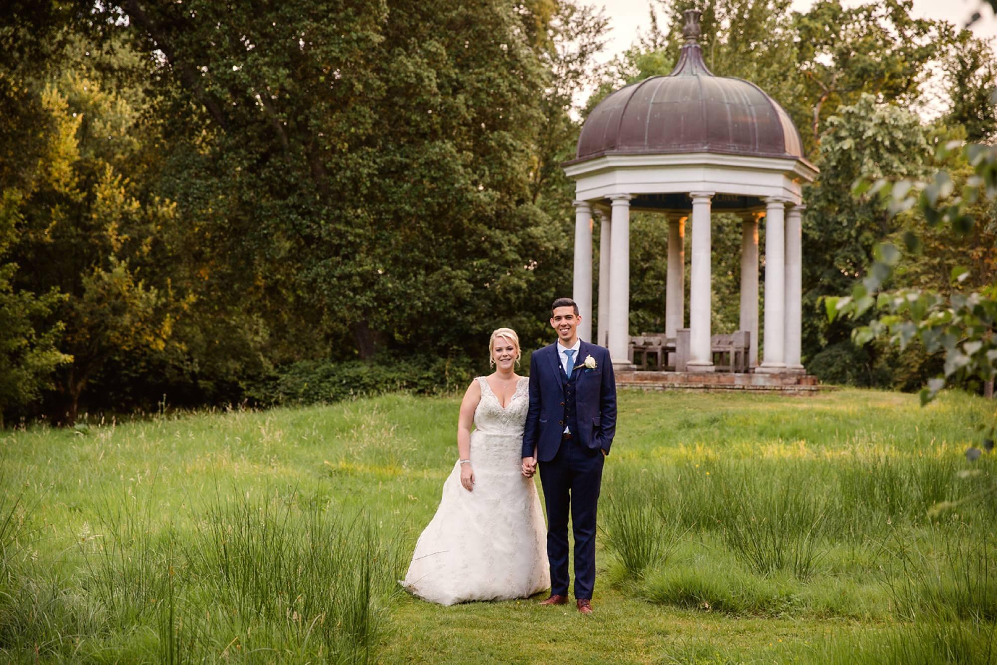 Bignor Park wedding photography groom and bride together