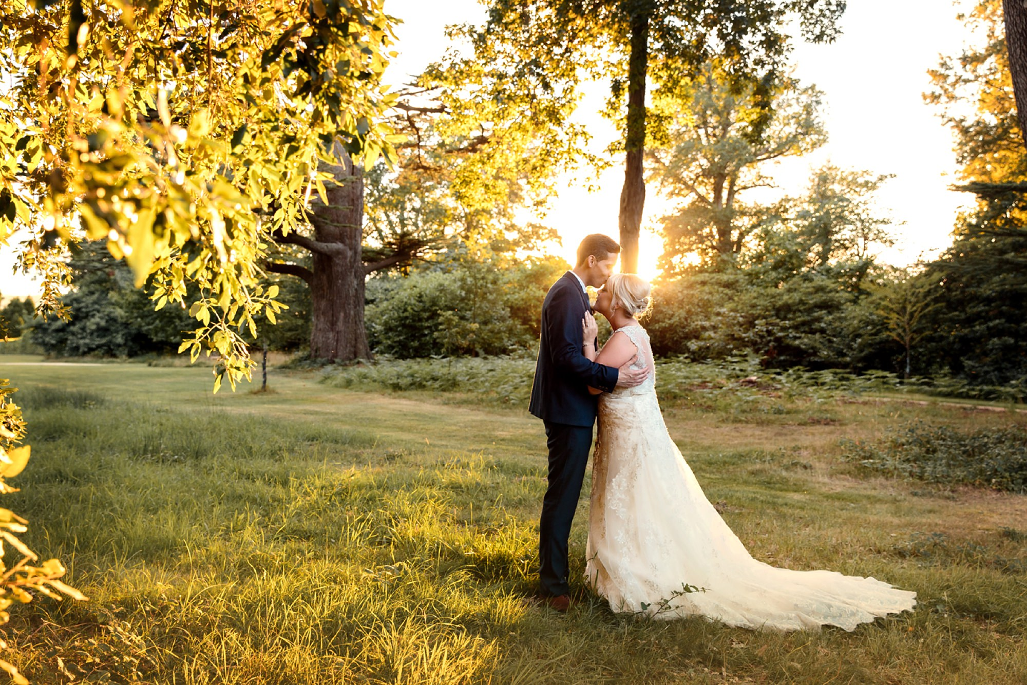 Bignor Park wedding photography golden hour