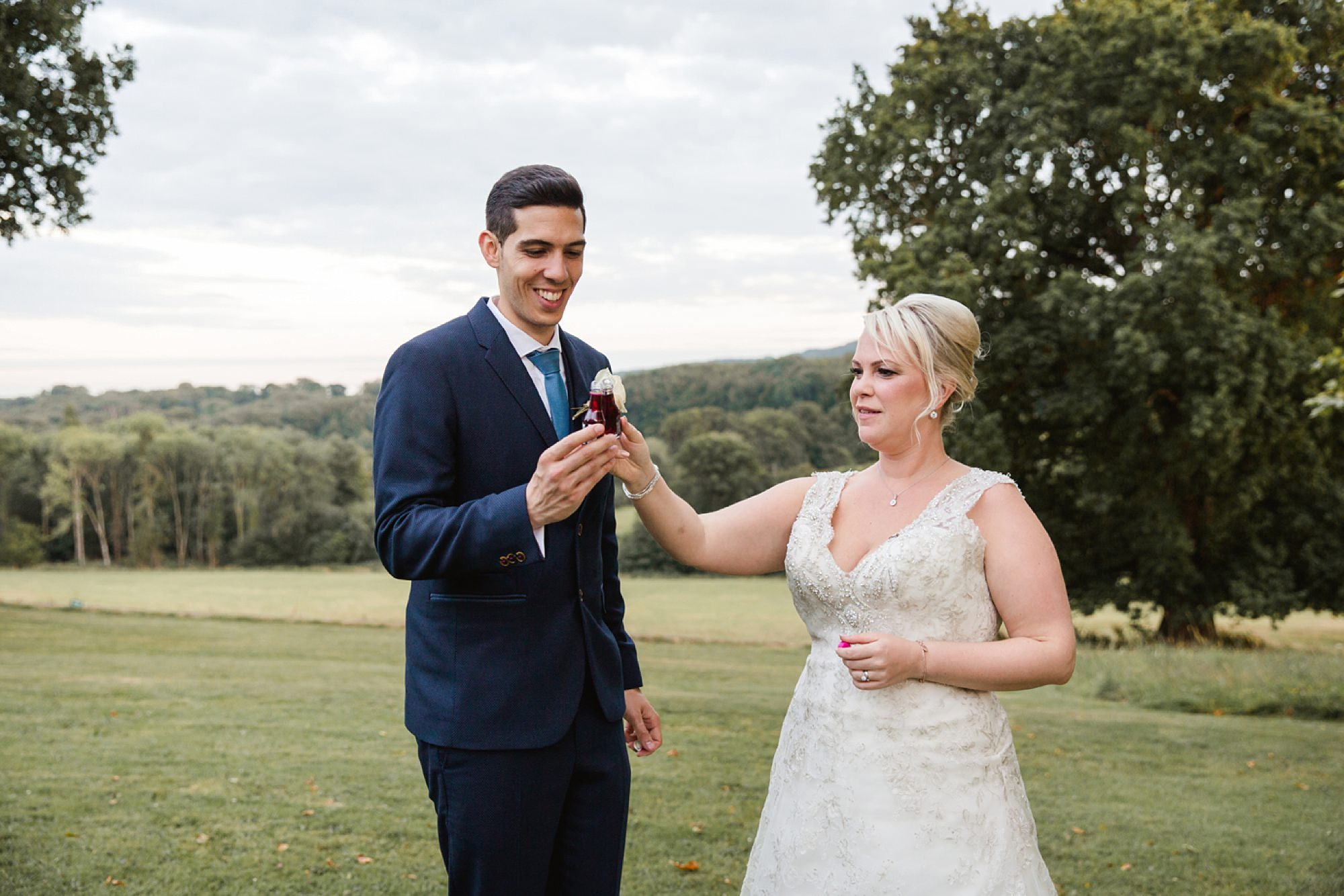 Bignor Park wedding photography bride and groom with shots