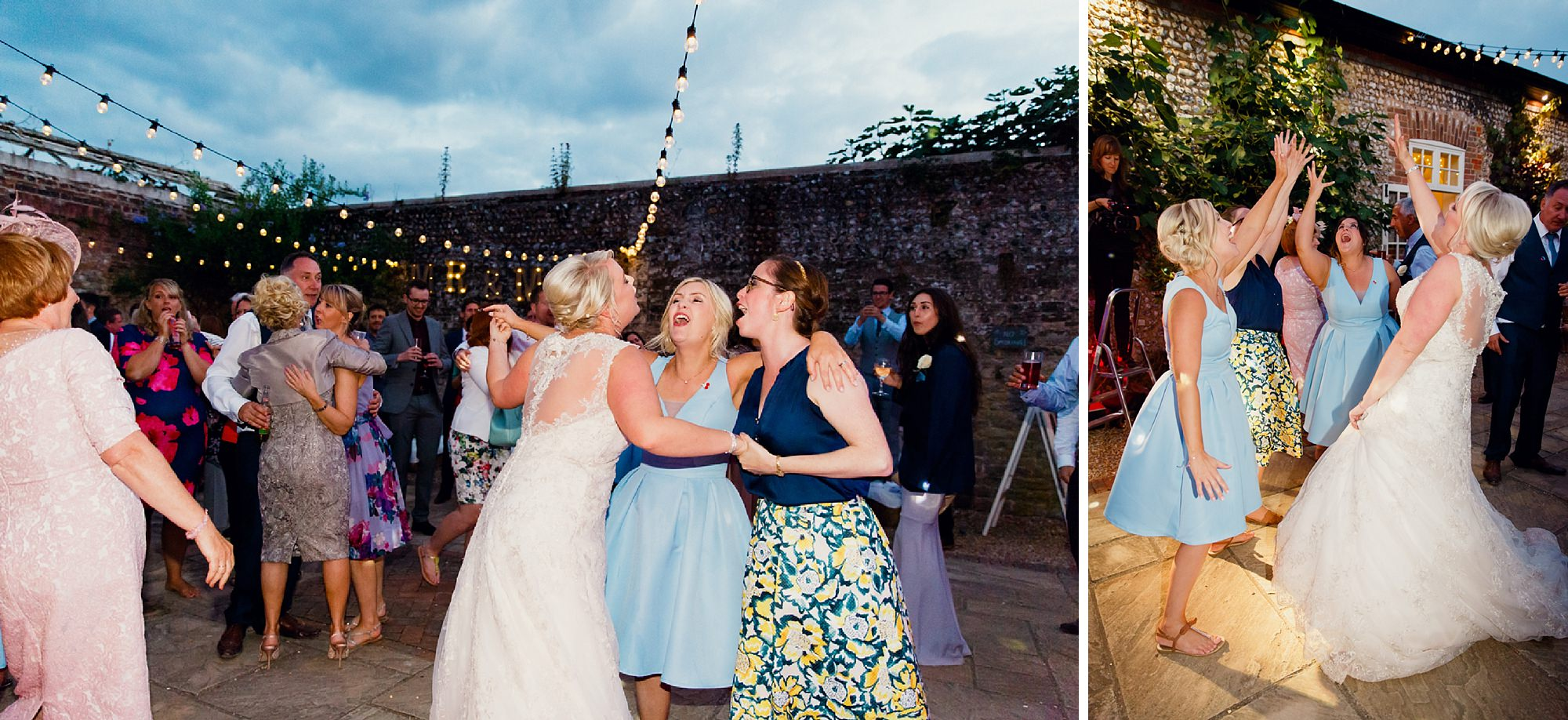 Bignor Park wedding photography guests dancing