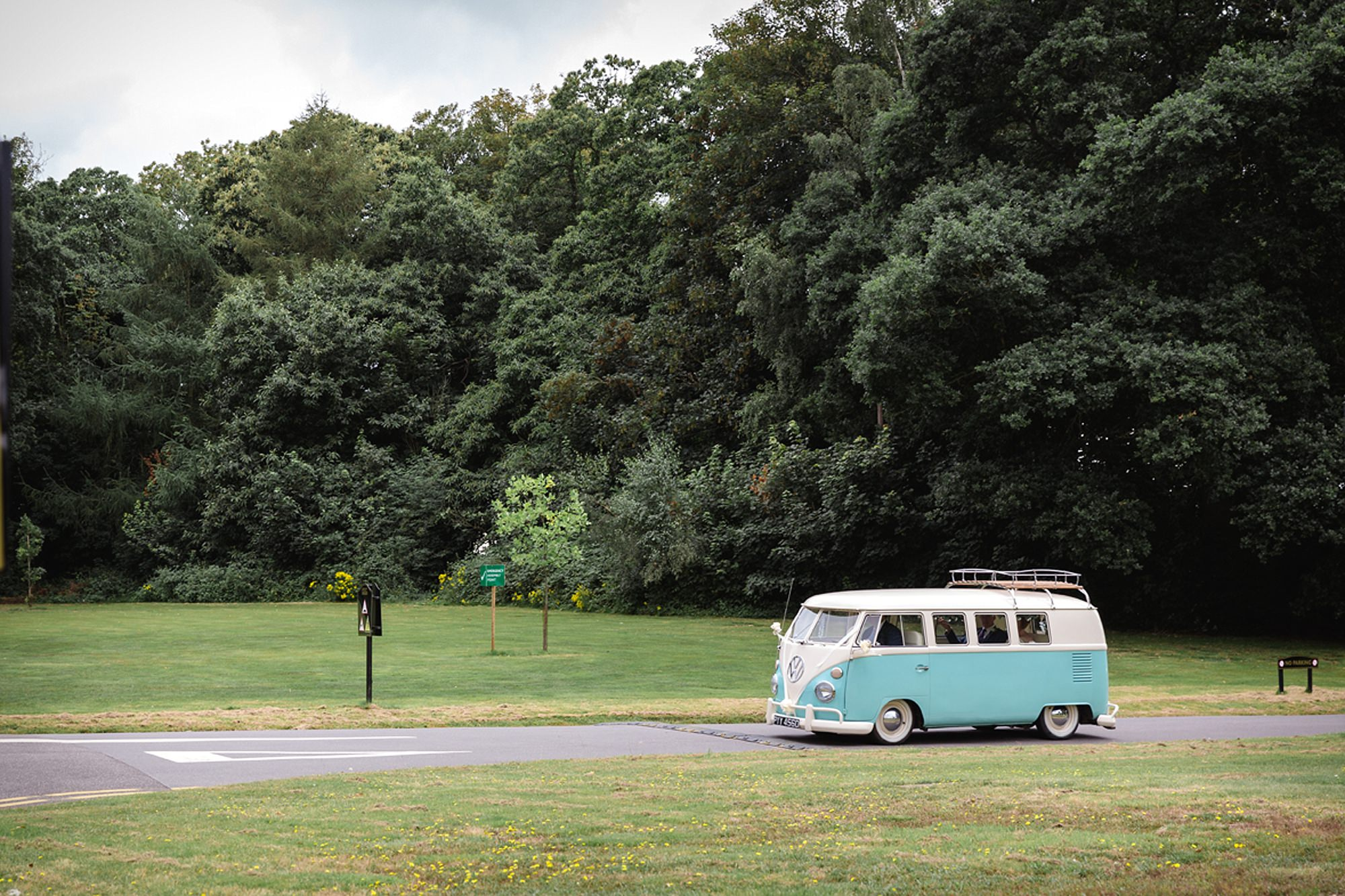 Mill House hotel wedding photography vintage campervan