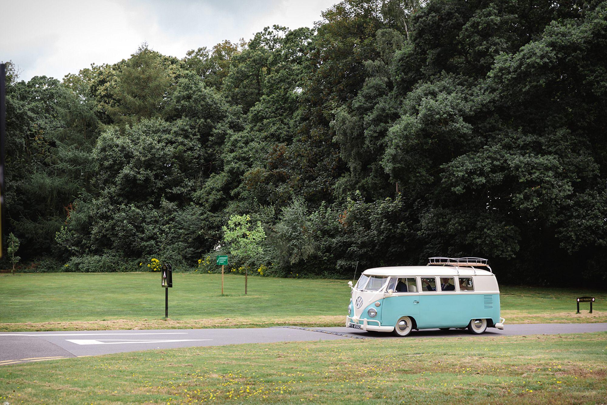 Mill House hotel wedding photography vintage campervan