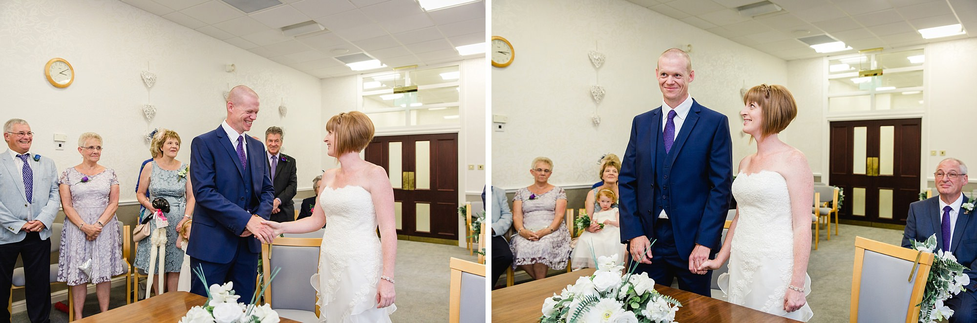 Mill House hotel wedding photography bride and groom in ceremony