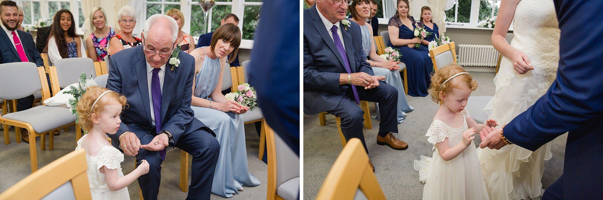 Mill House hotel wedding photography flower girl ring bearer