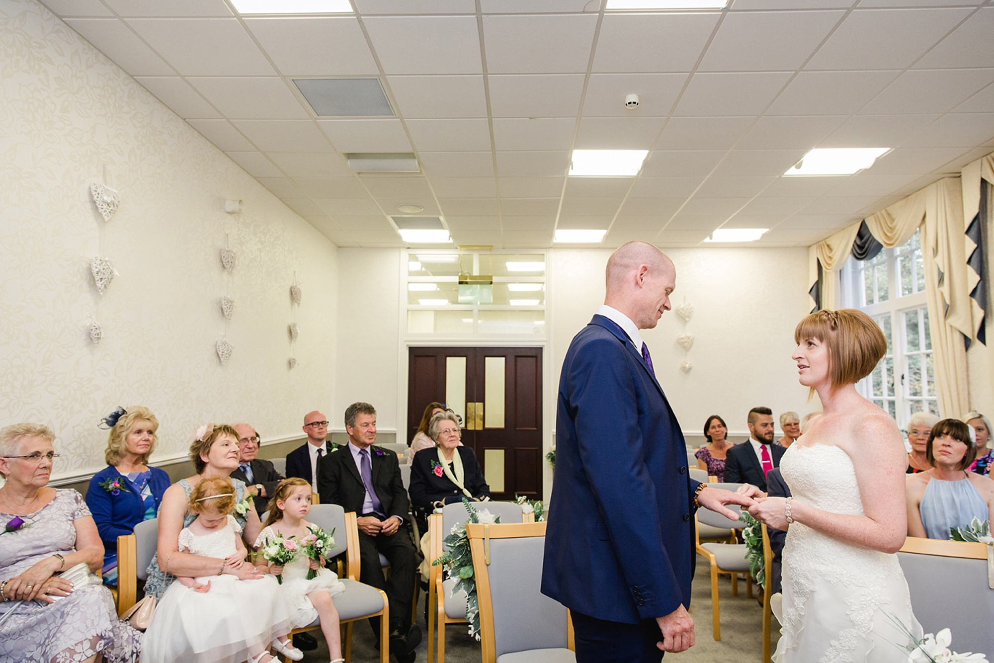 Mill House hotel wedding photography bride and groom rings