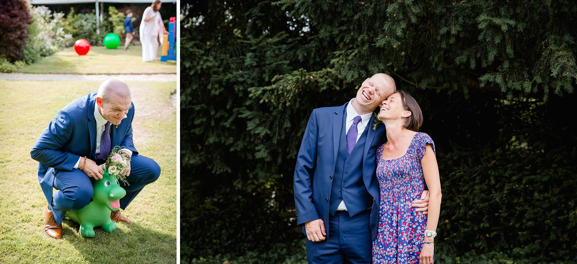 Mill House hotel wedding photography funny groom portrait