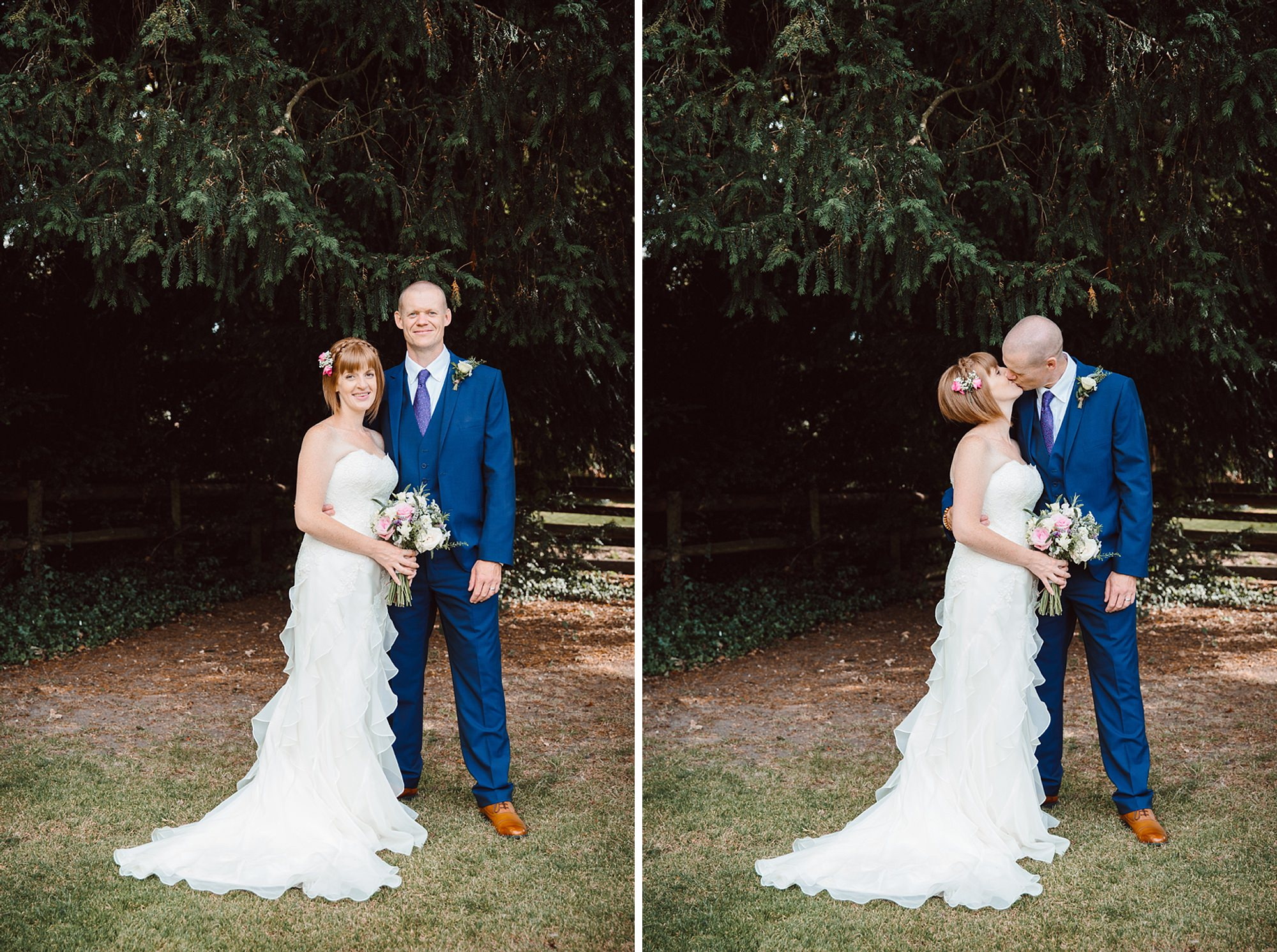 Mill House hotel wedding photography bride and groom in gardens