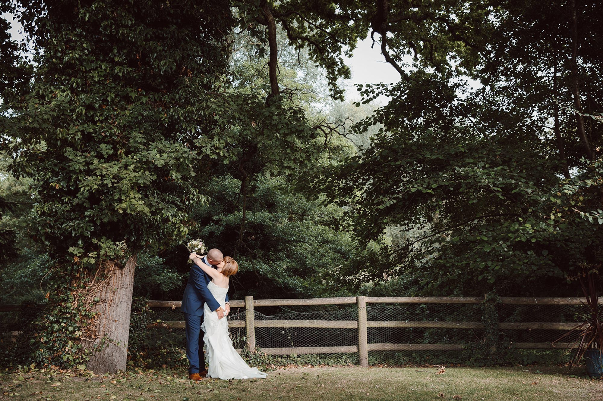 Mill House hotel wedding photography couple in garden