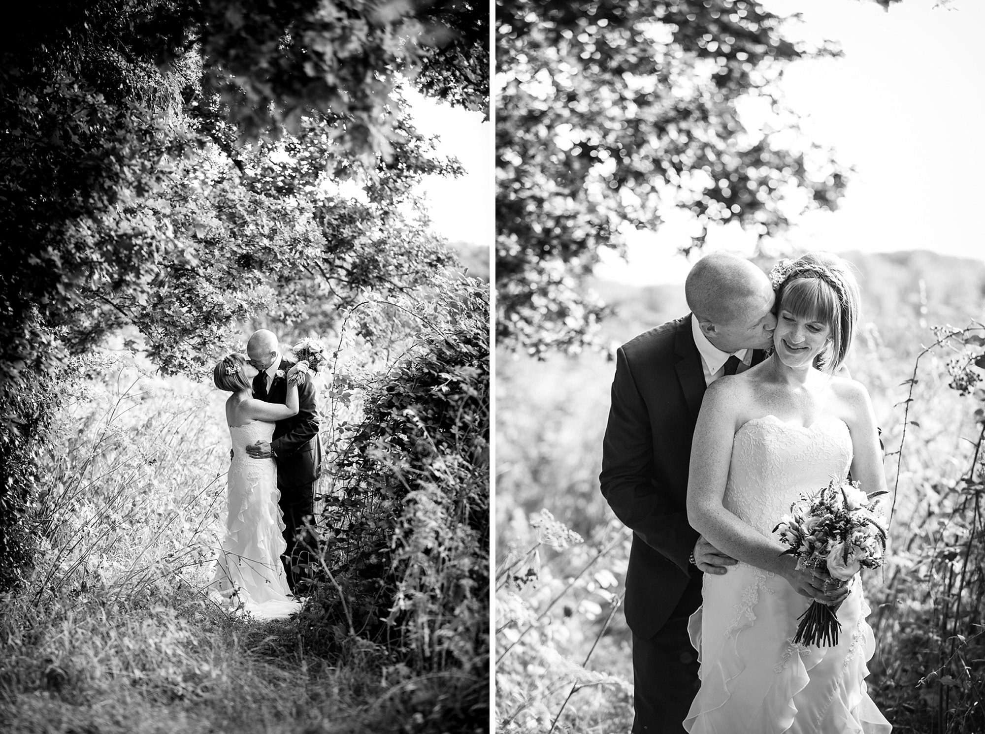 Mill House hotel wedding photography groom and bride portrait