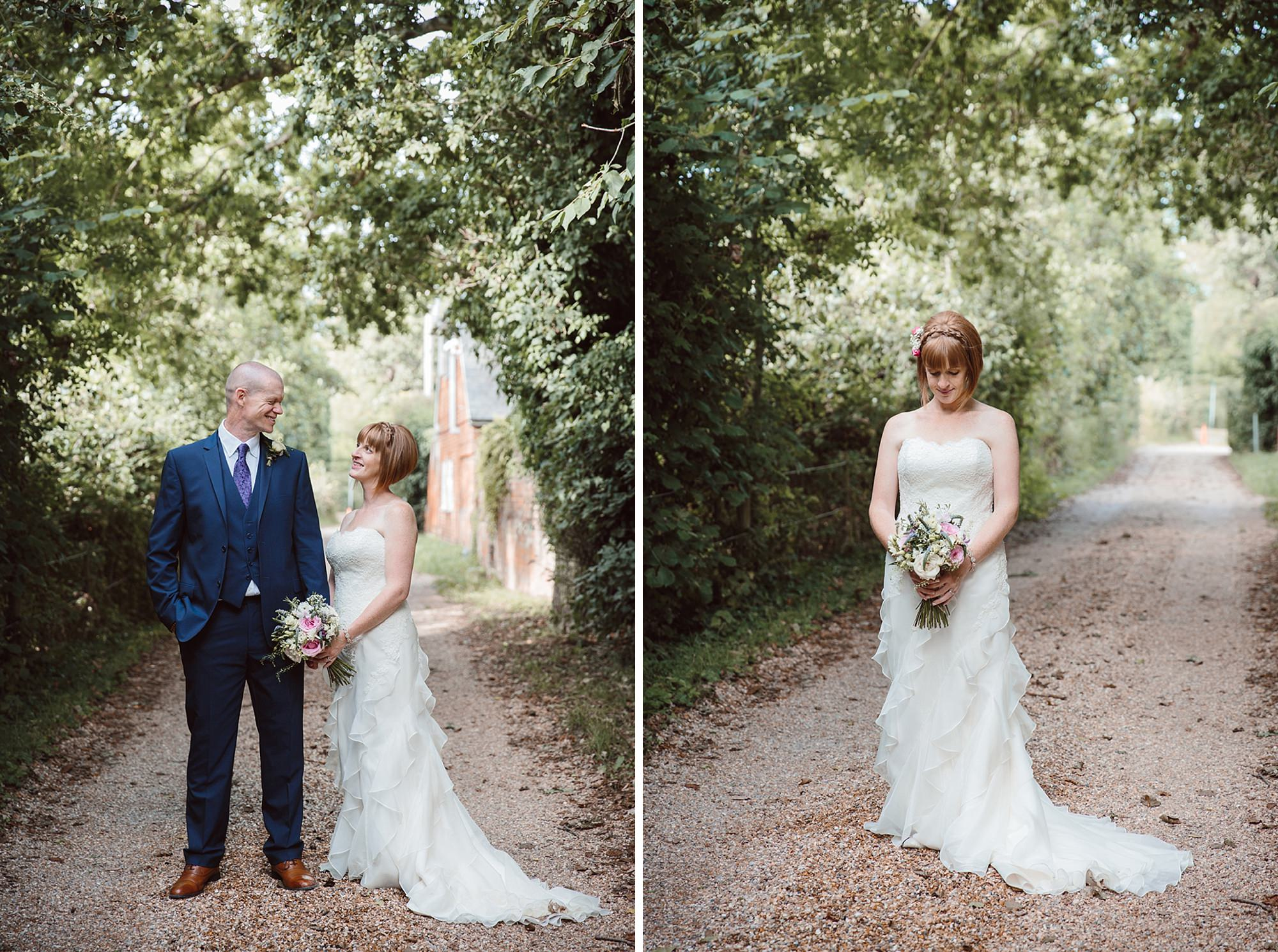 Mill House hotel wedding photography bride in gardens