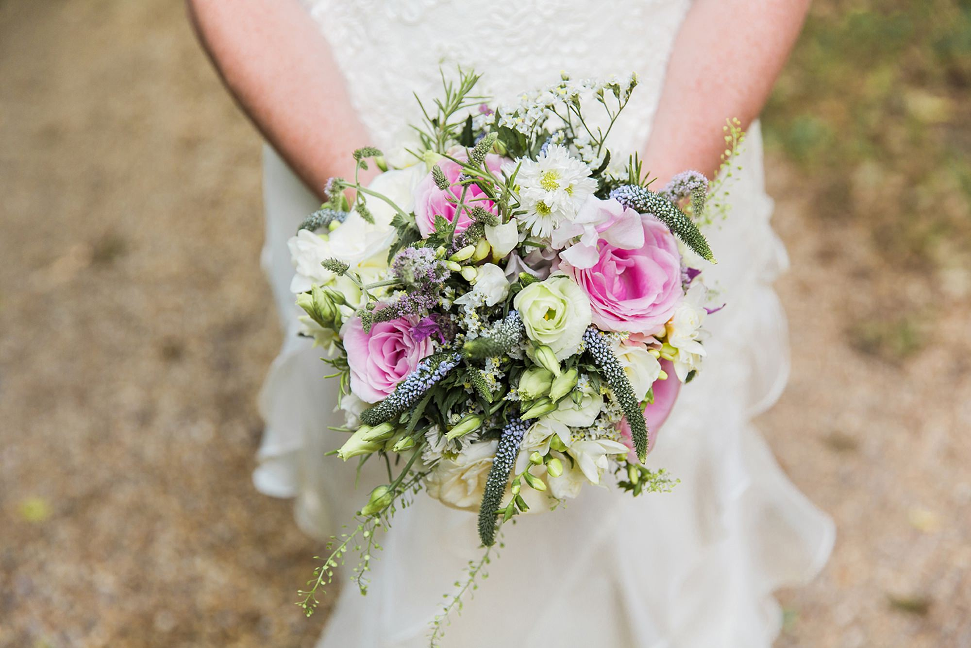 Mill House hotel wedding photography brides bouquet