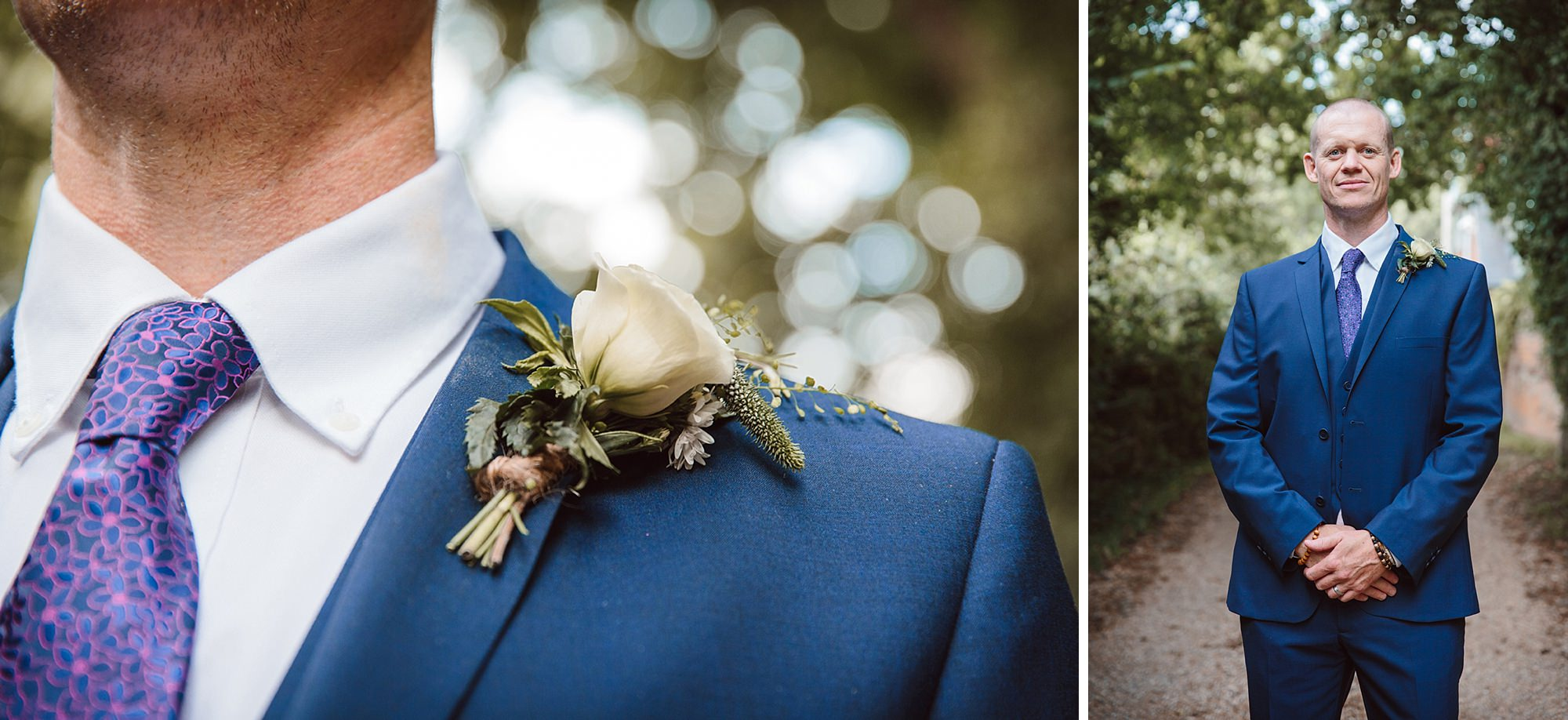 Mill House hotel wedding photography groom portrait