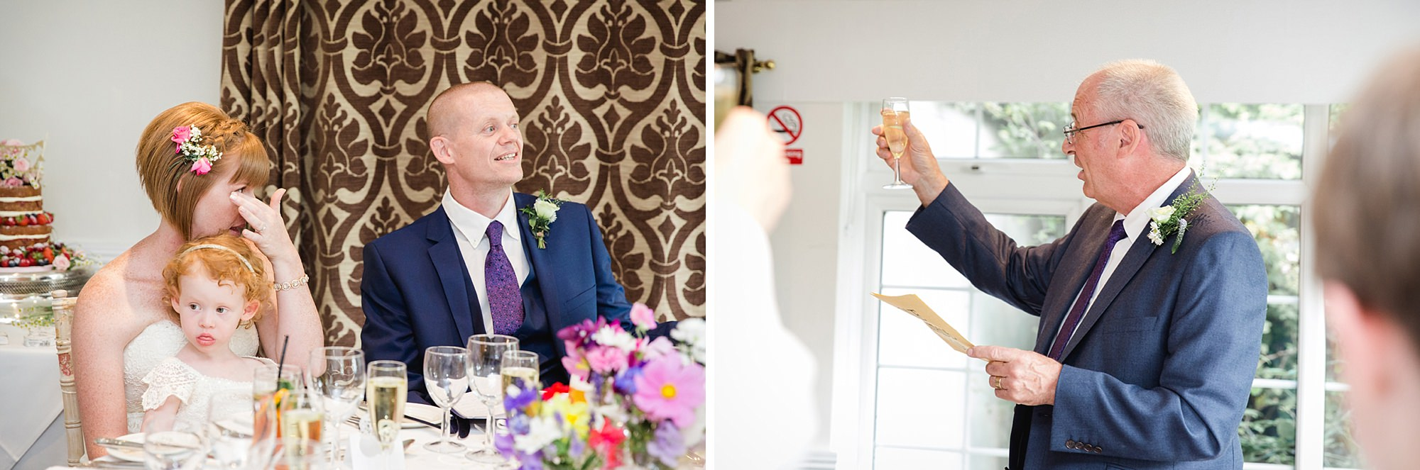 Mill House hotel wedding photography wedding toast