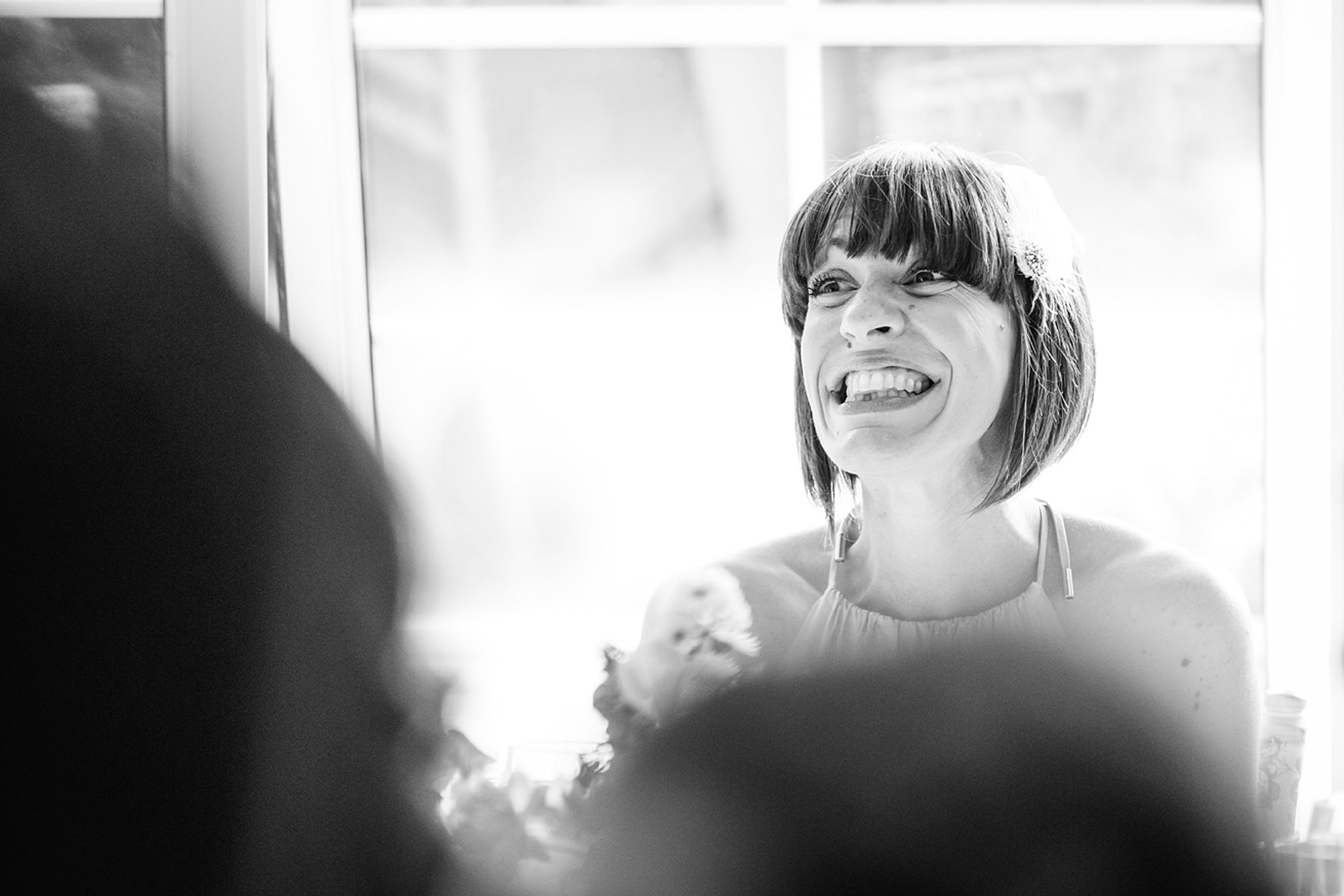 Mill House hotel wedding photography bridesmaid during speeches