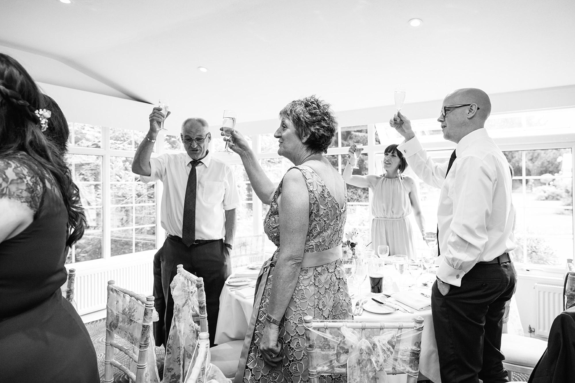 Mill House hotel wedding photography speech toast