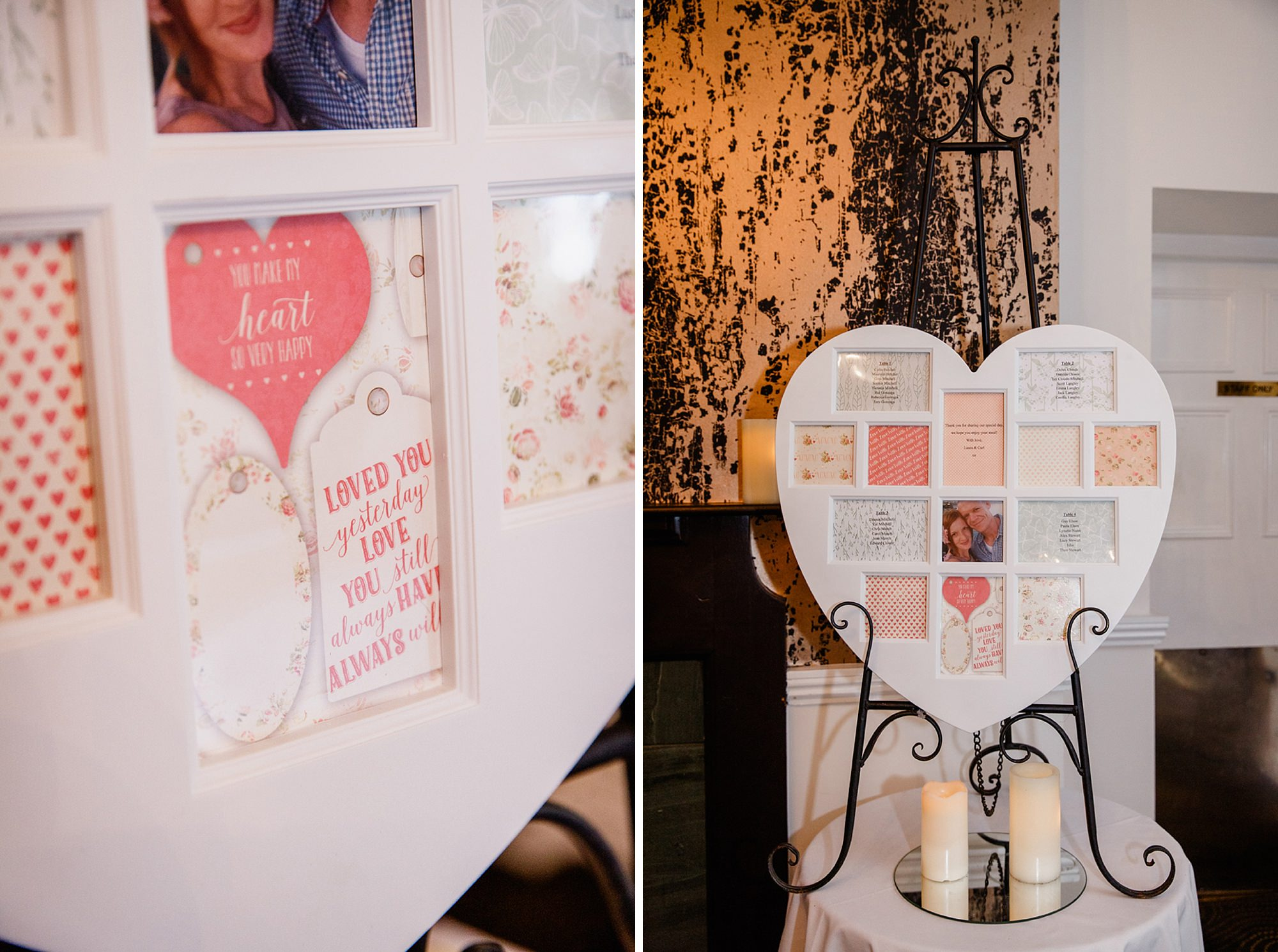 portrait of bride and groom kissing in the gardens at mill house hotel wedding table plan