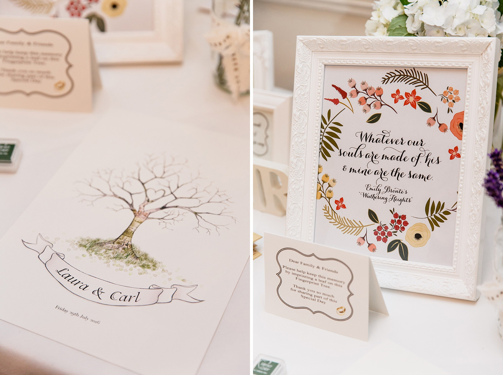 portrait of bride and groom kissing in the gardens at mill house hotel wedding fingerprint tree