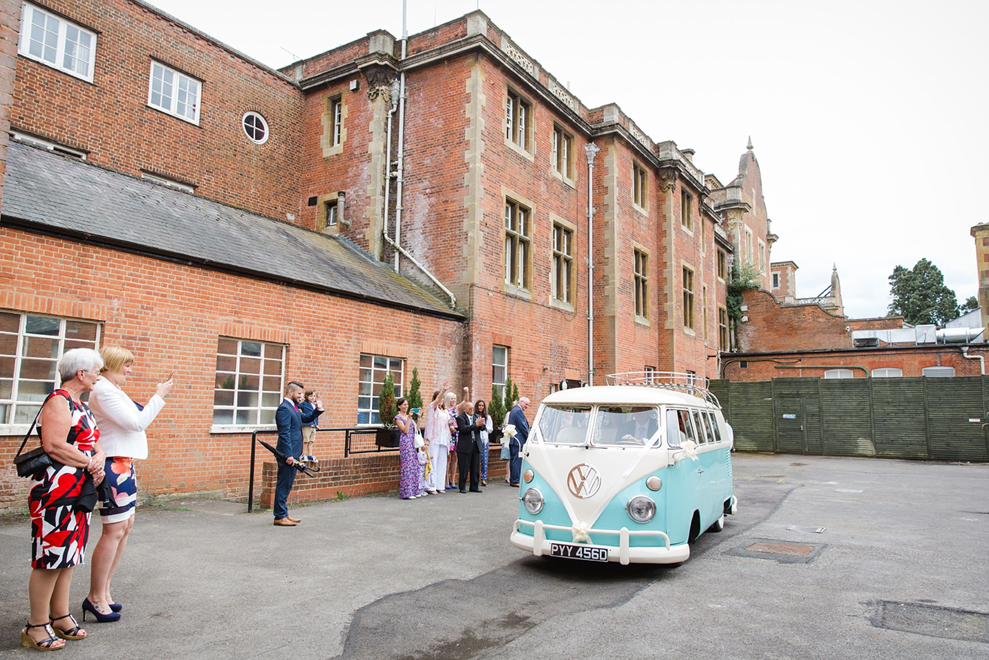 Mill House hotel wedding photography campervan