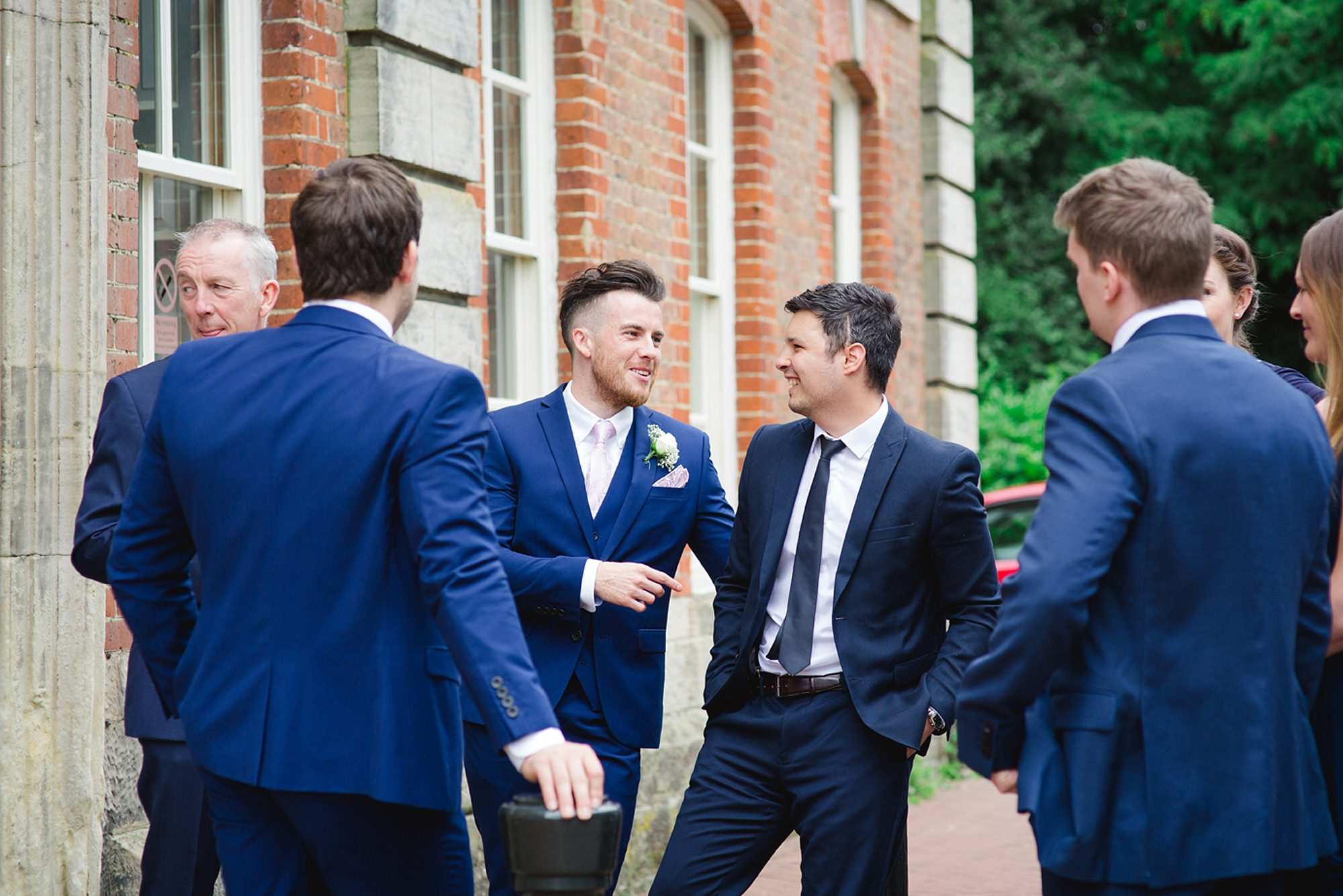 Old Greens Barn Newdigate wedding photography best men at horsham town hall