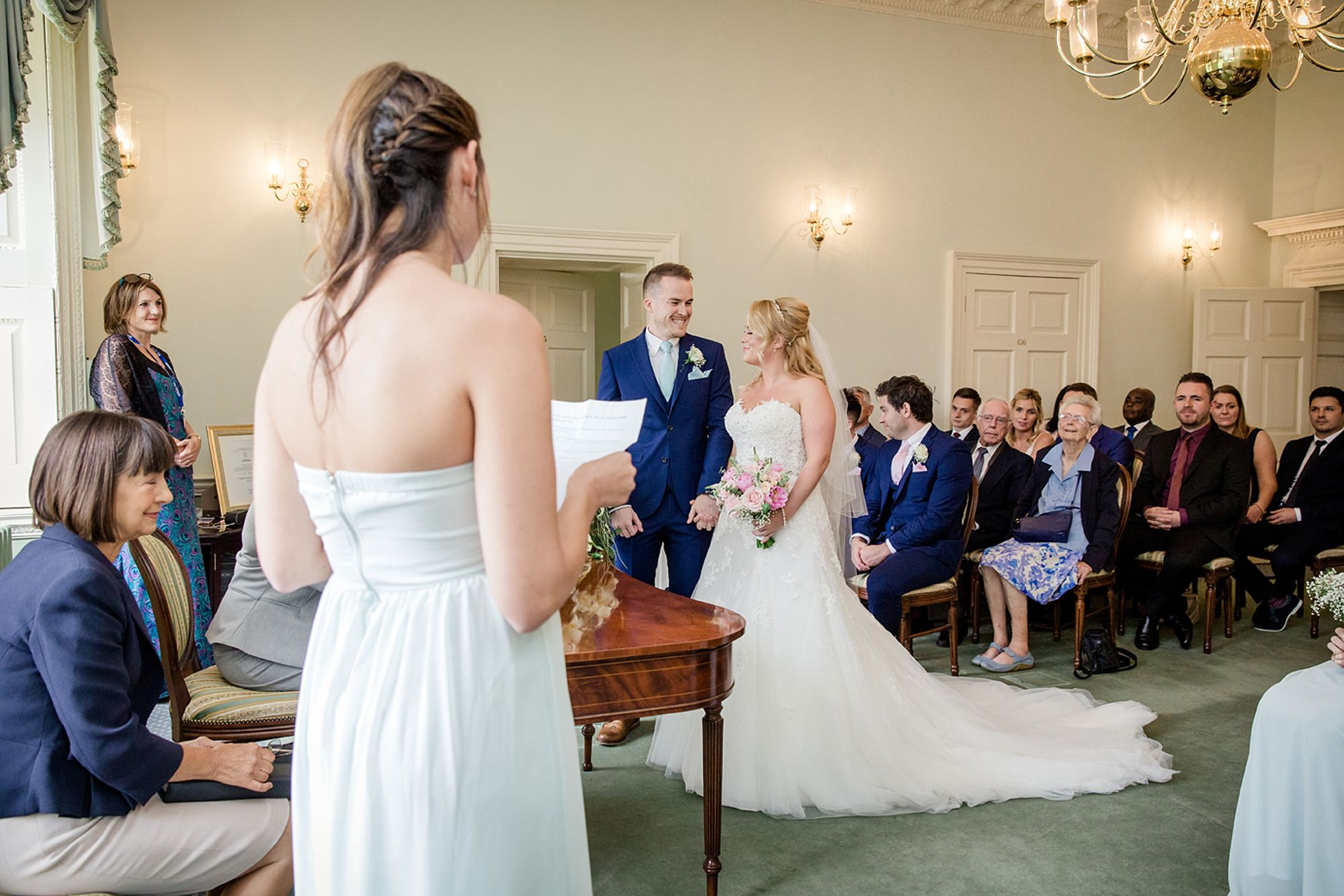 Old Greens Barn Newdigate wedding photography ceremony reading