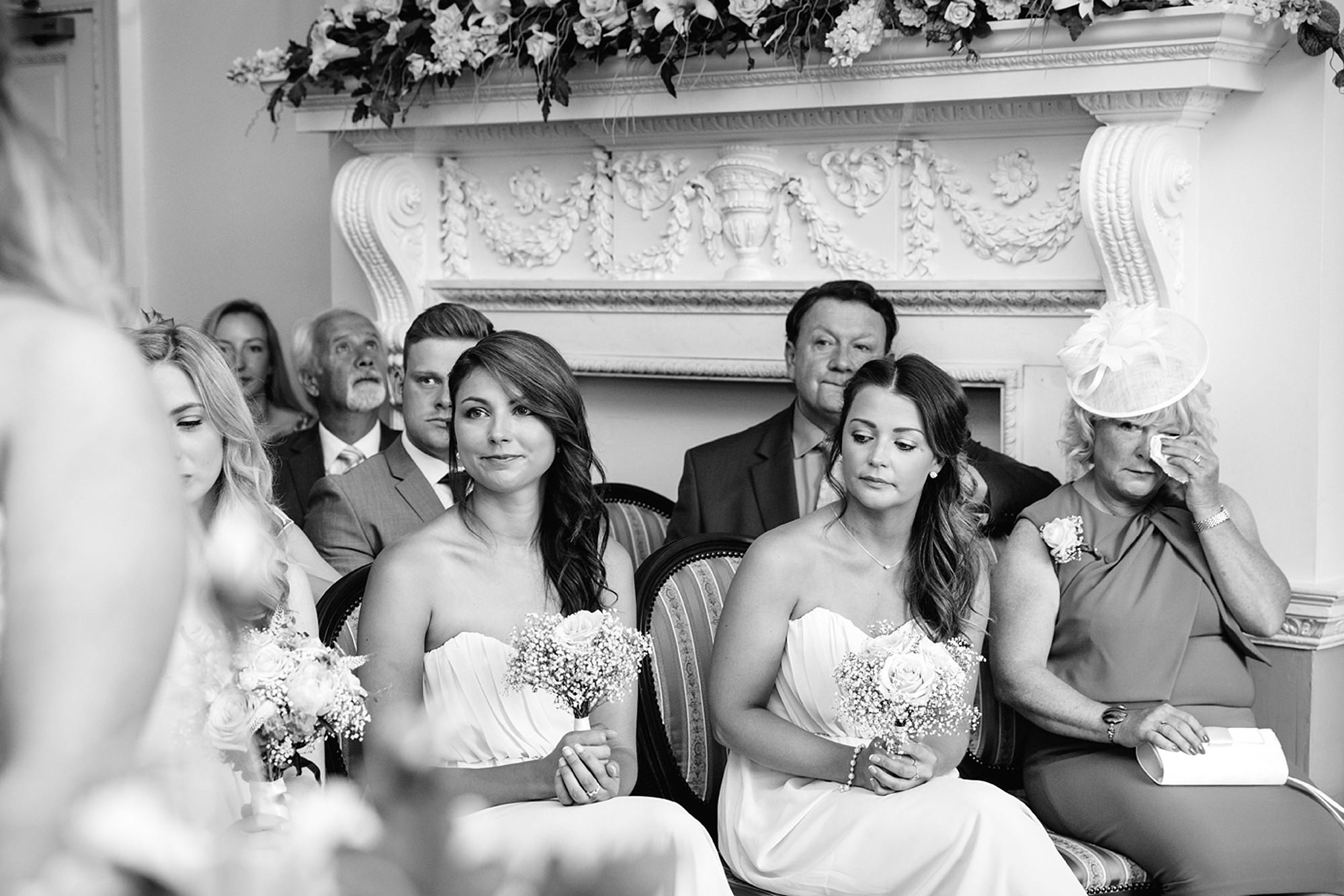 Old Greens Barn Newdigate wedding photography guests at horsham registry office