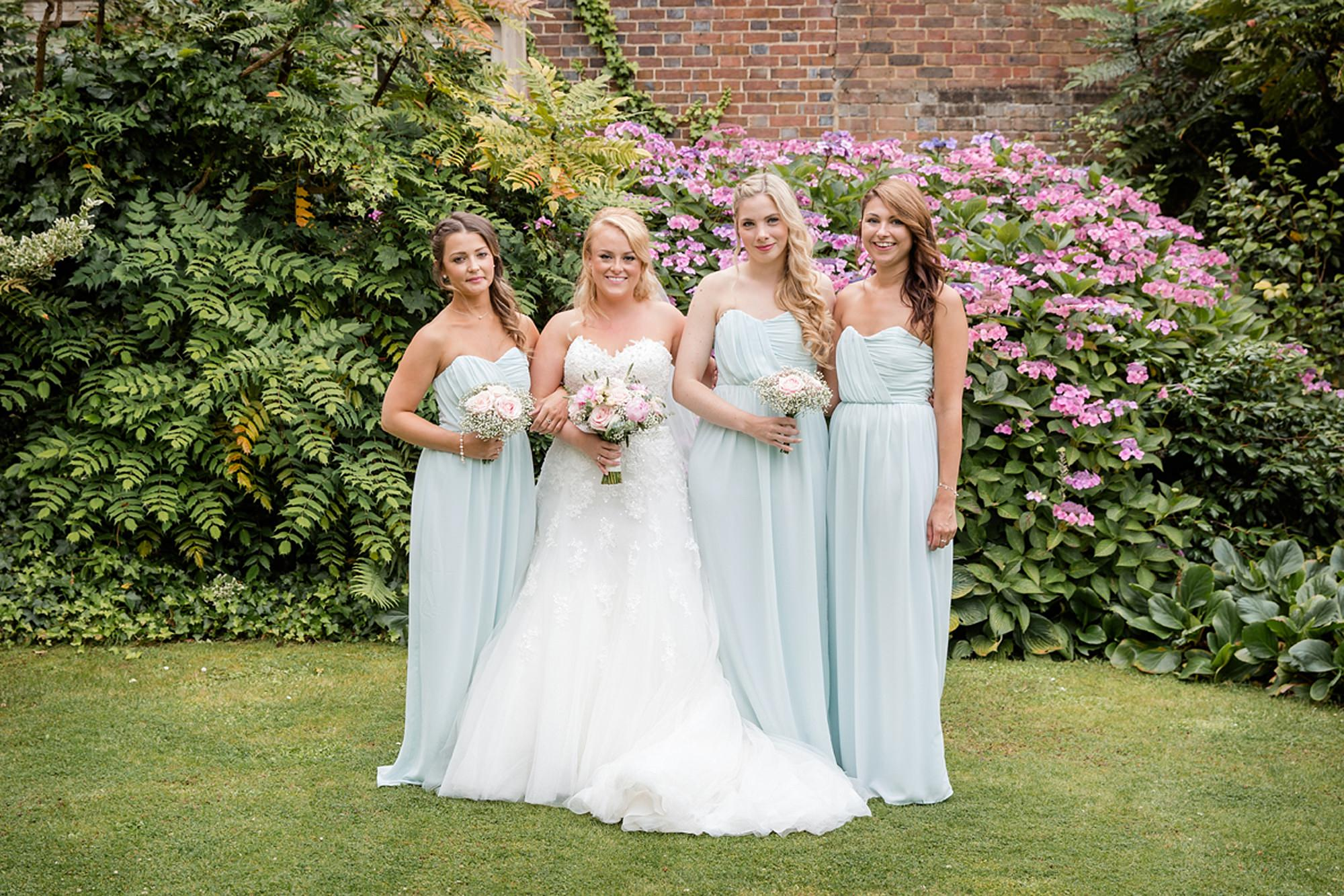 Old Greens Barn Newdigate wedding photography bride and bridesmaids