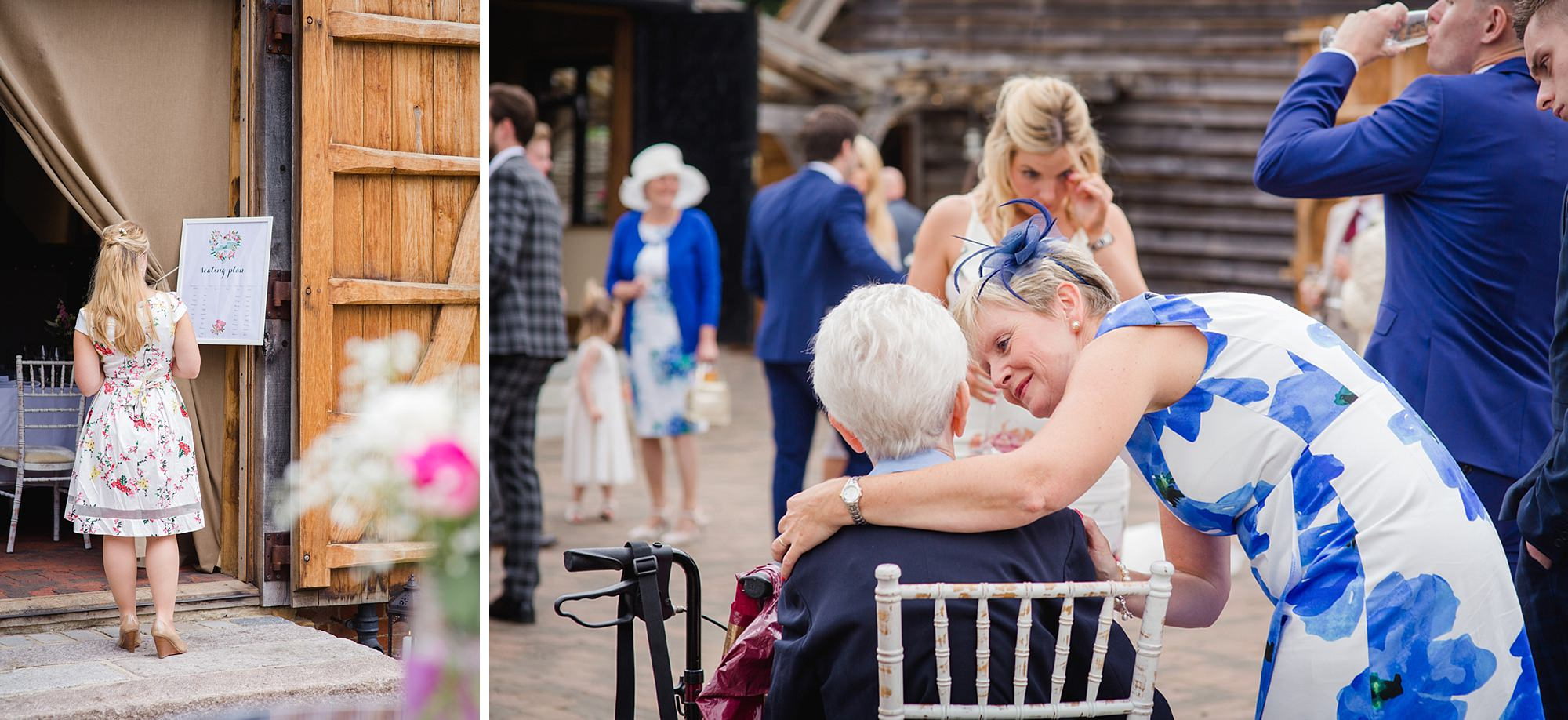 Old Greens Barn Newdigate wedding photography guest candids