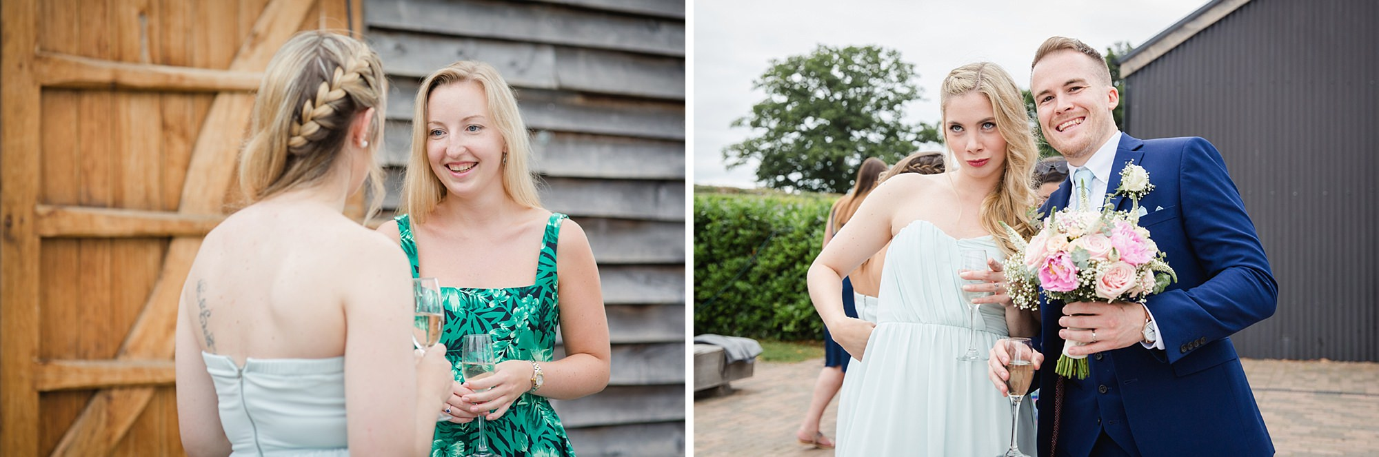 Old Greens Barn Newdigate wedding photography fun wedding guests