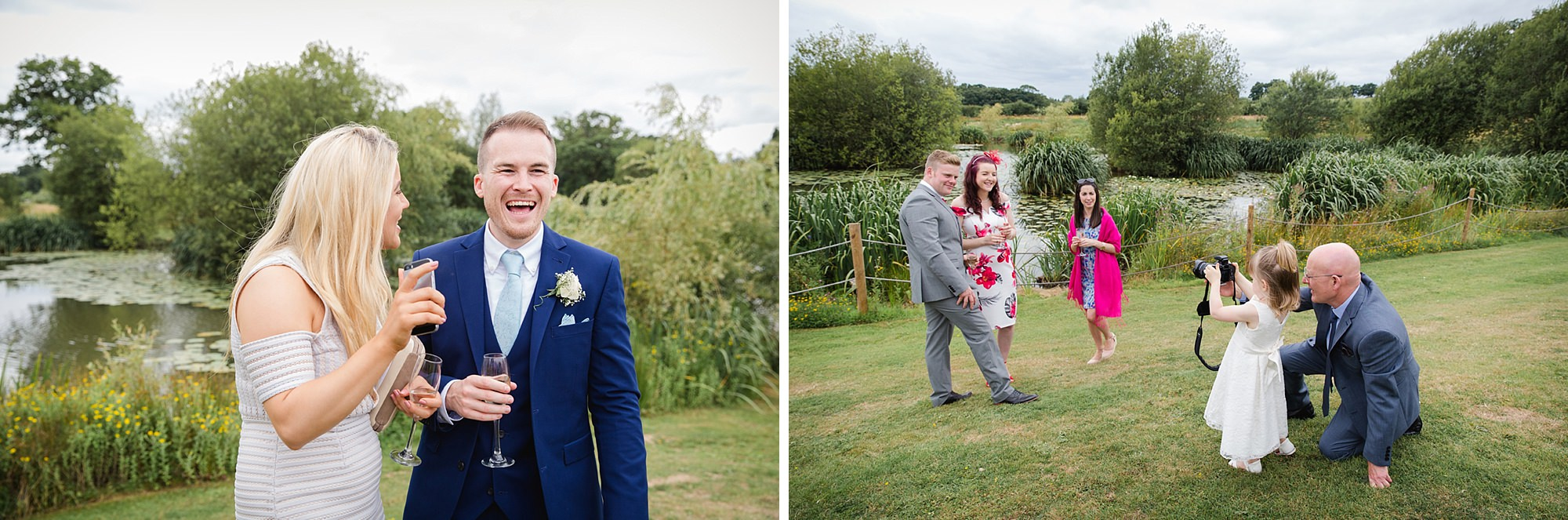 Old Greens Barn Newdigate wedding photography happy guests
