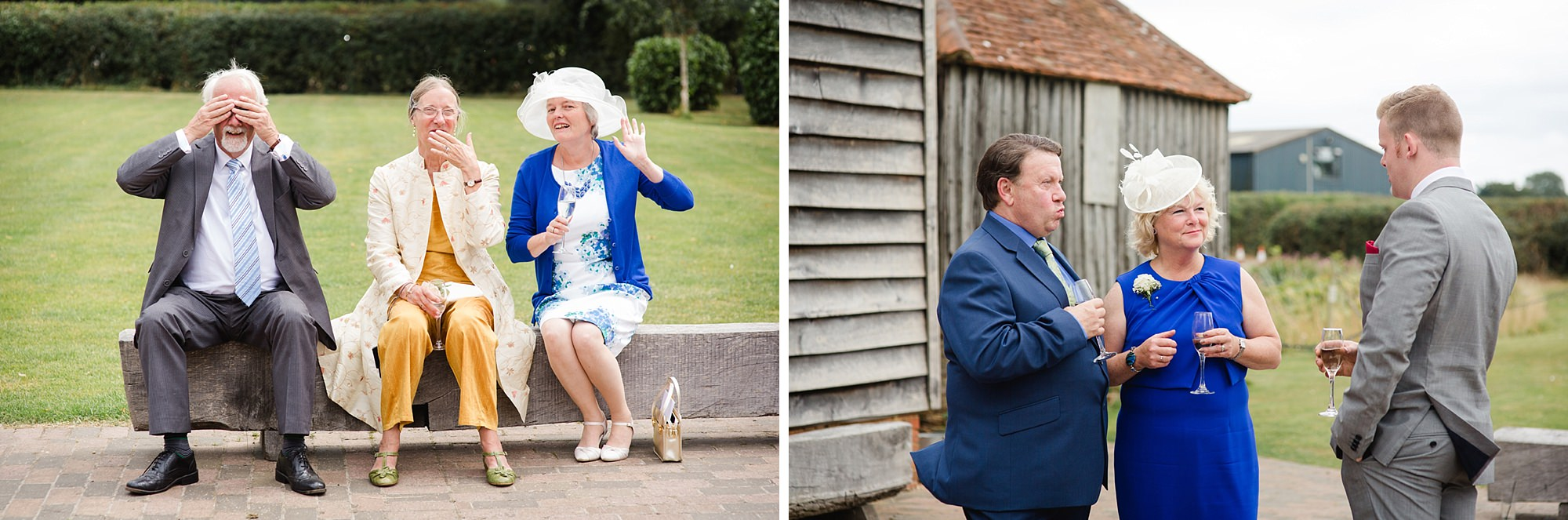 Old Greens Barn Newdigate wedding photography wedding guests
