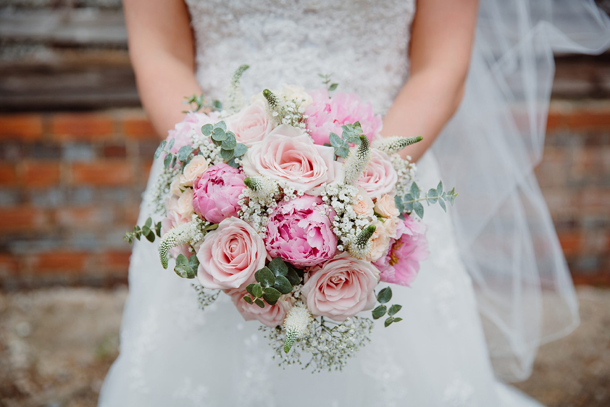 Old Greens Barn Newdigate wedding photography bride's bouquet