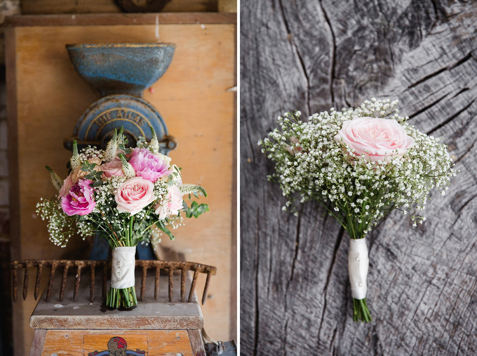 Old Greens Barn Newdigate wedding photography flower details