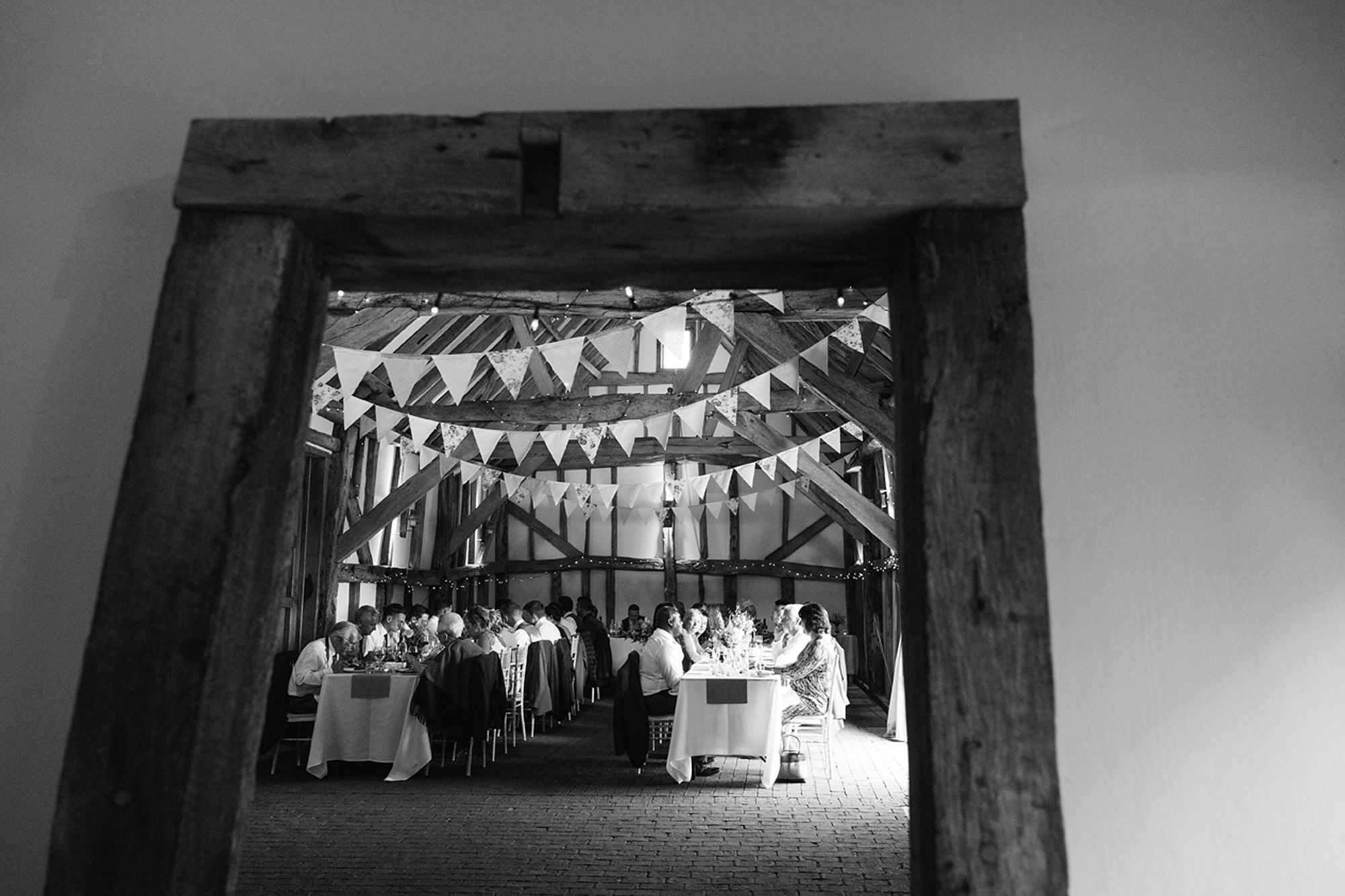 Old Greens Barn Newdigate wedding photography wedding breakfast