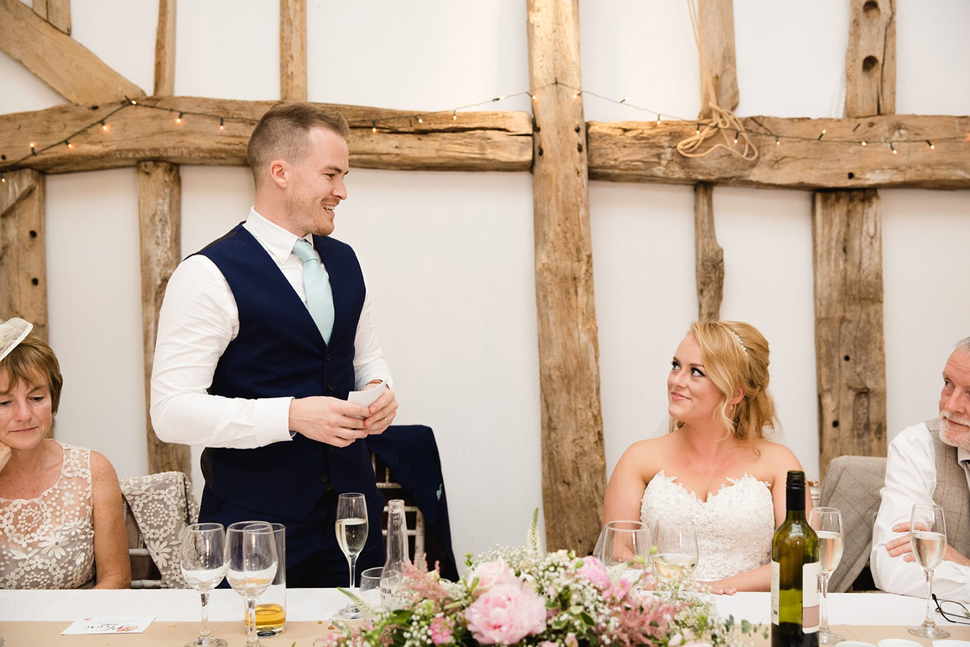 Old Greens Barn Newdigate wedding photography grooms speech