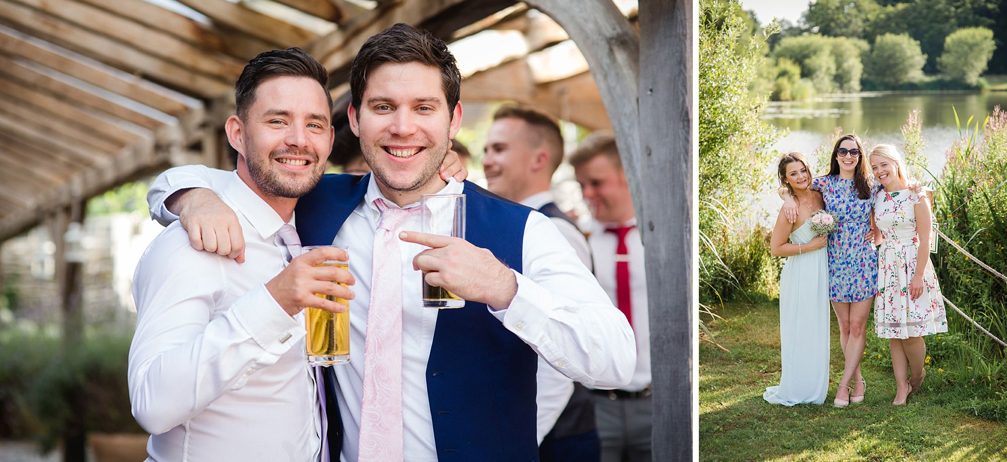 Old Greens Barn Newdigate wedding photography wedding guest portraits