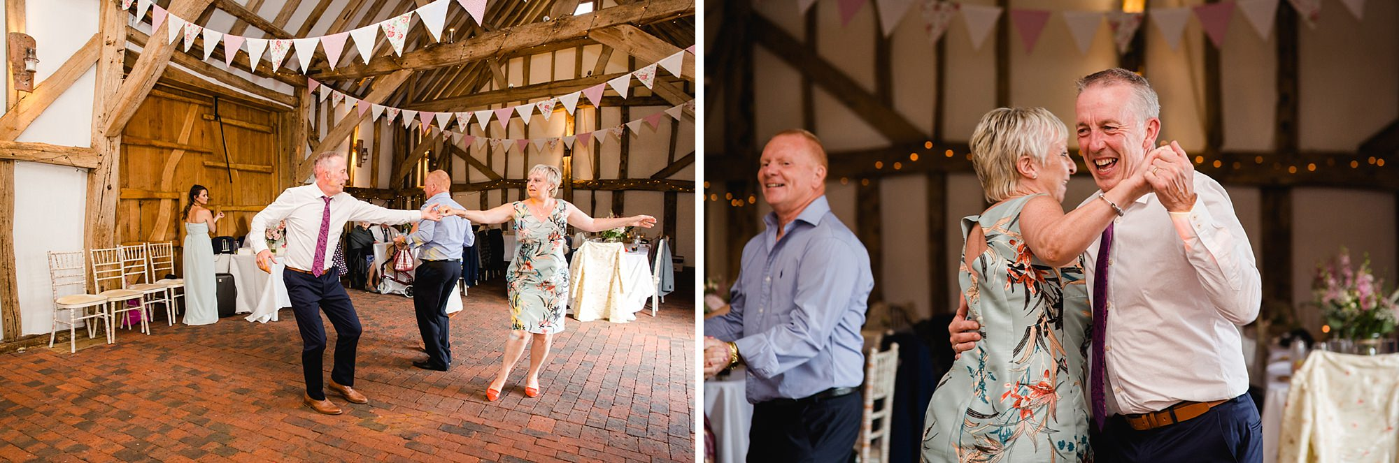 Old Greens Barn Newdigate wedding photography wedding guests dancing