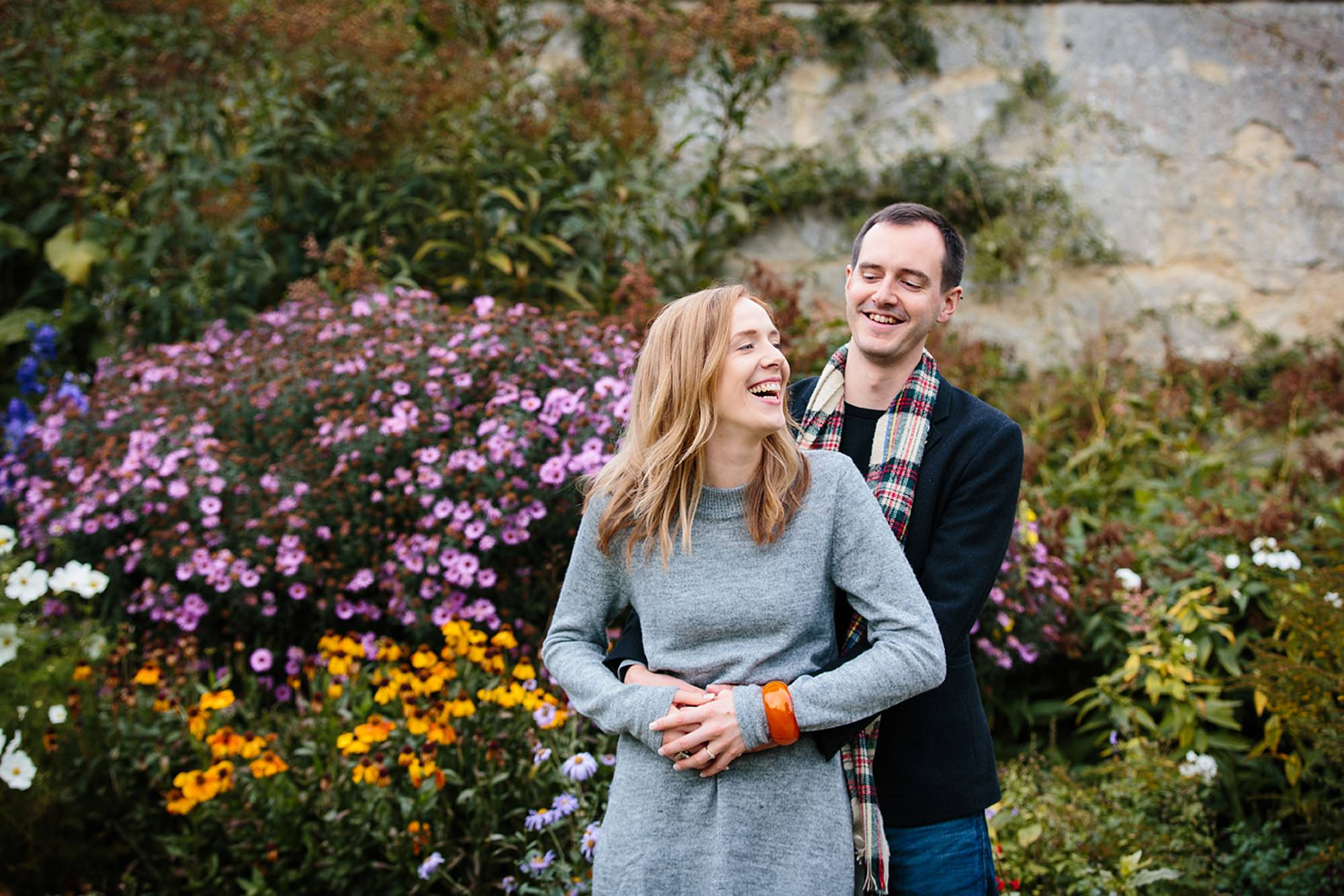 Oxford engagement photography laughing couple