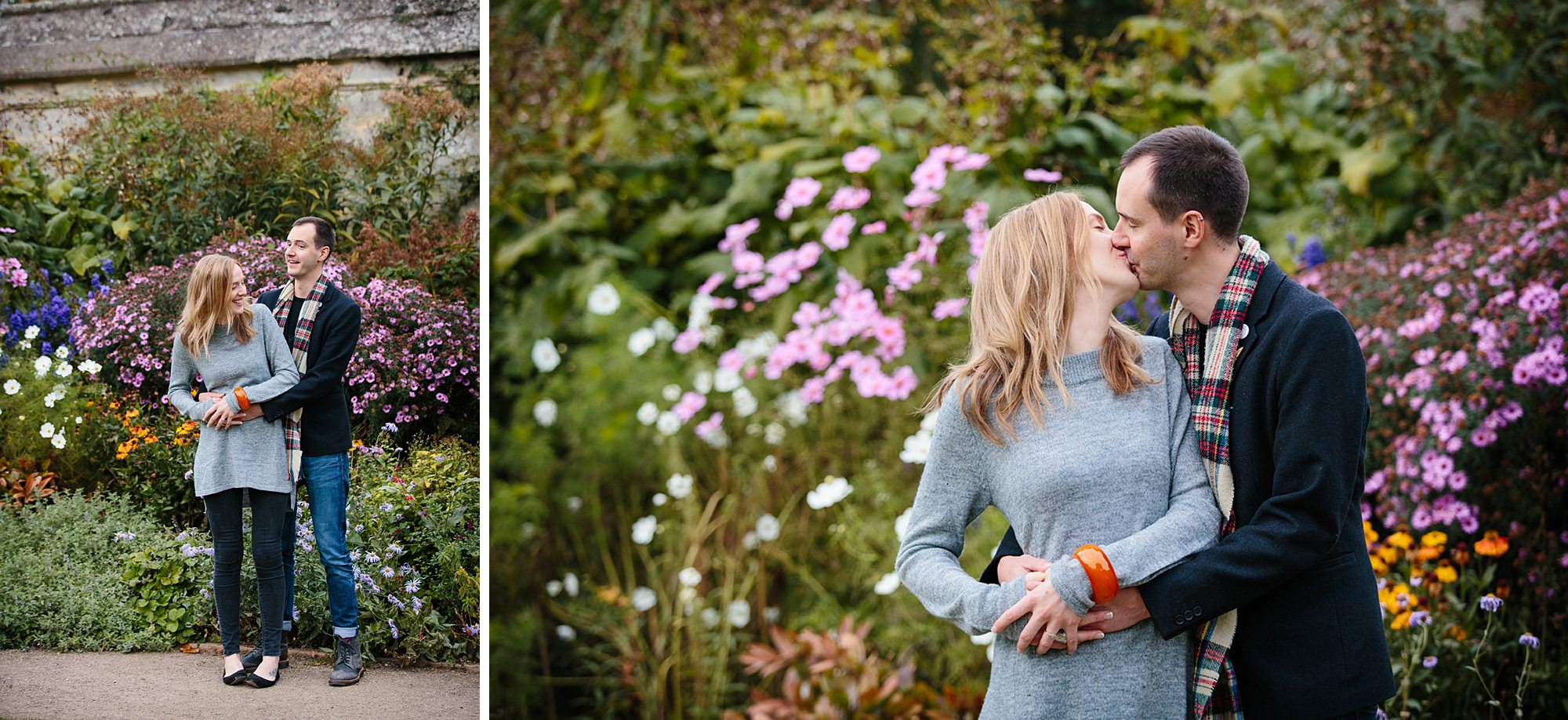 Oxford engagement photography kissing couple