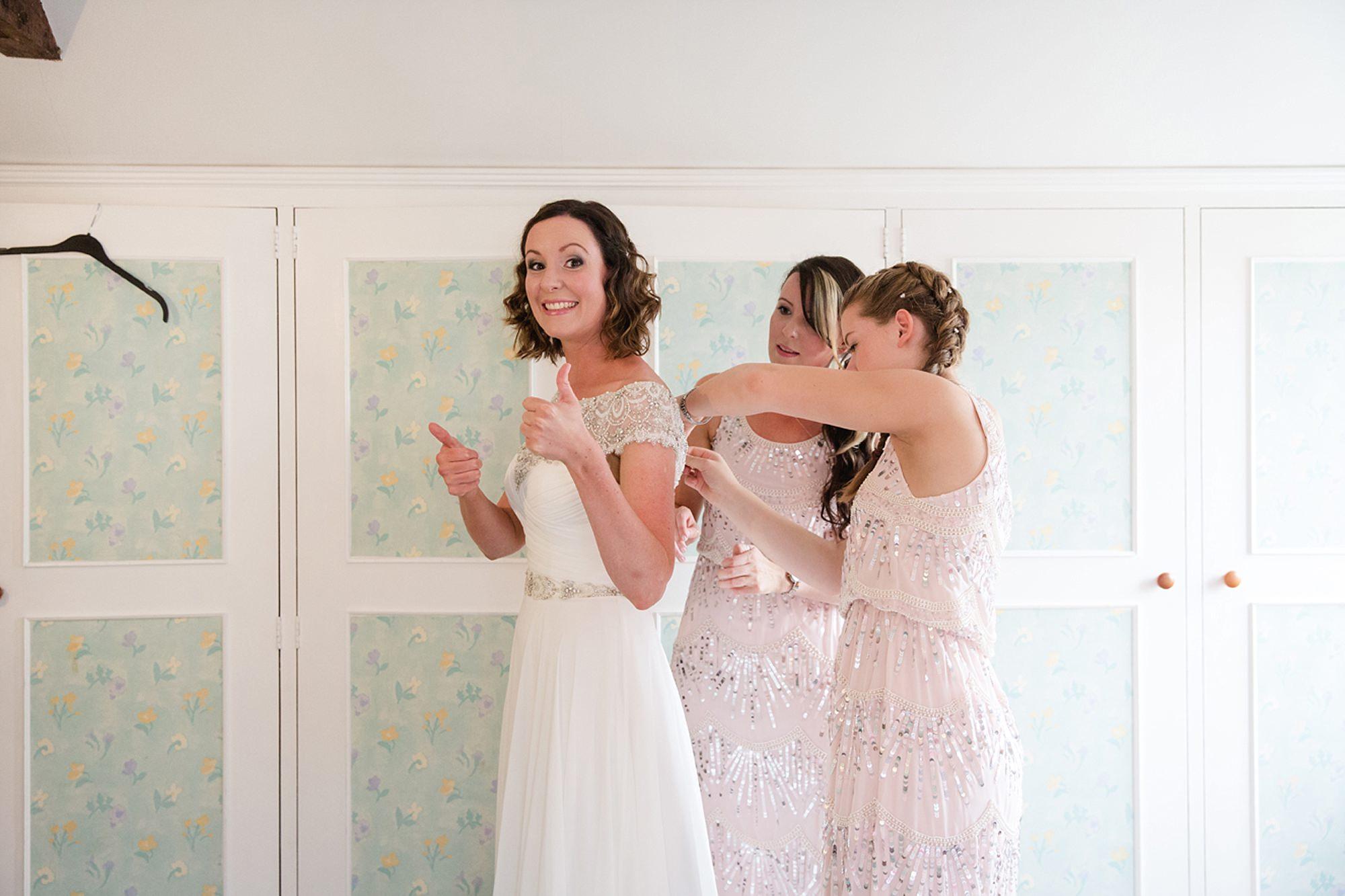 outdoor humanist wedding photography happy bride