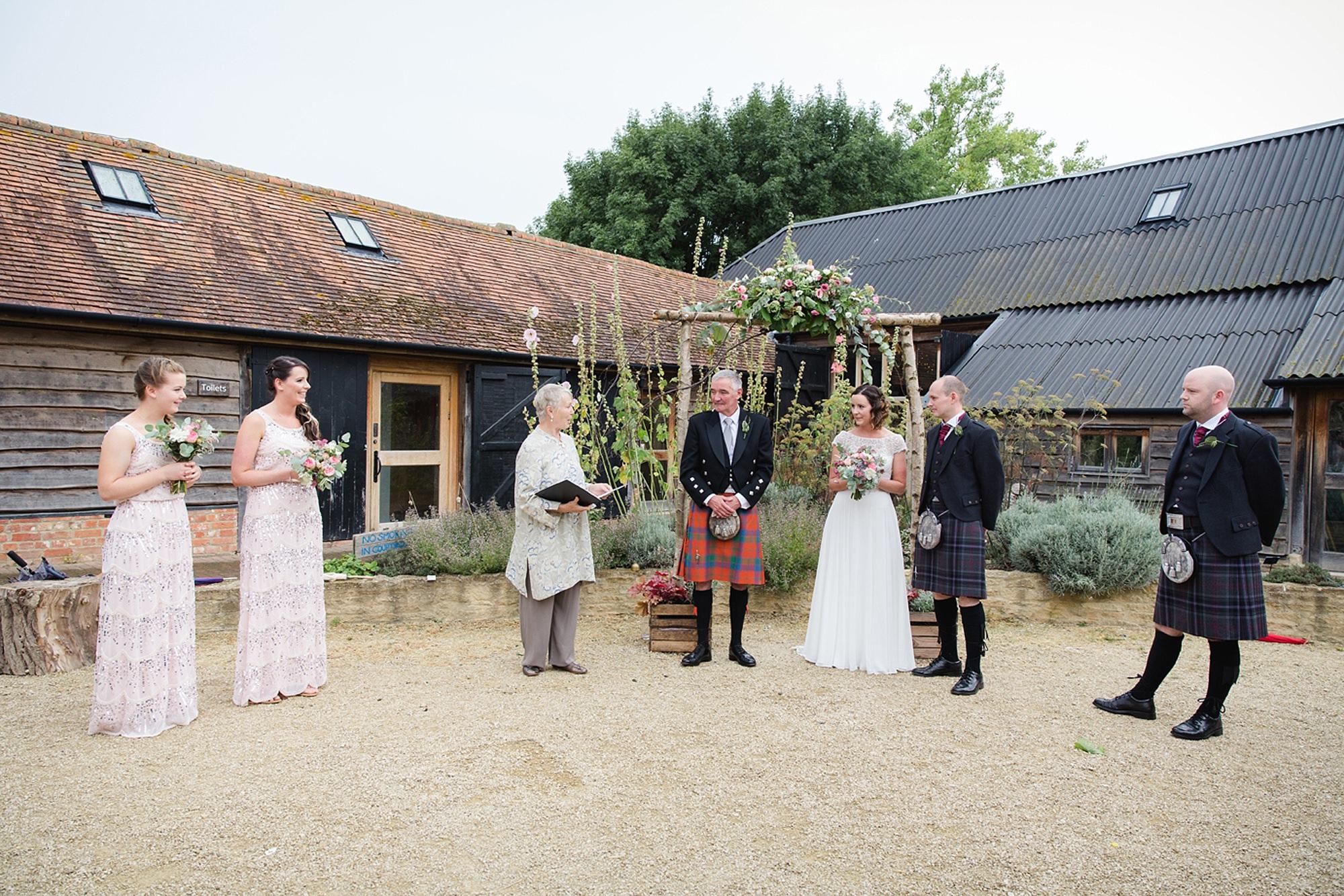 outdoor humanist wedding photography ceremony