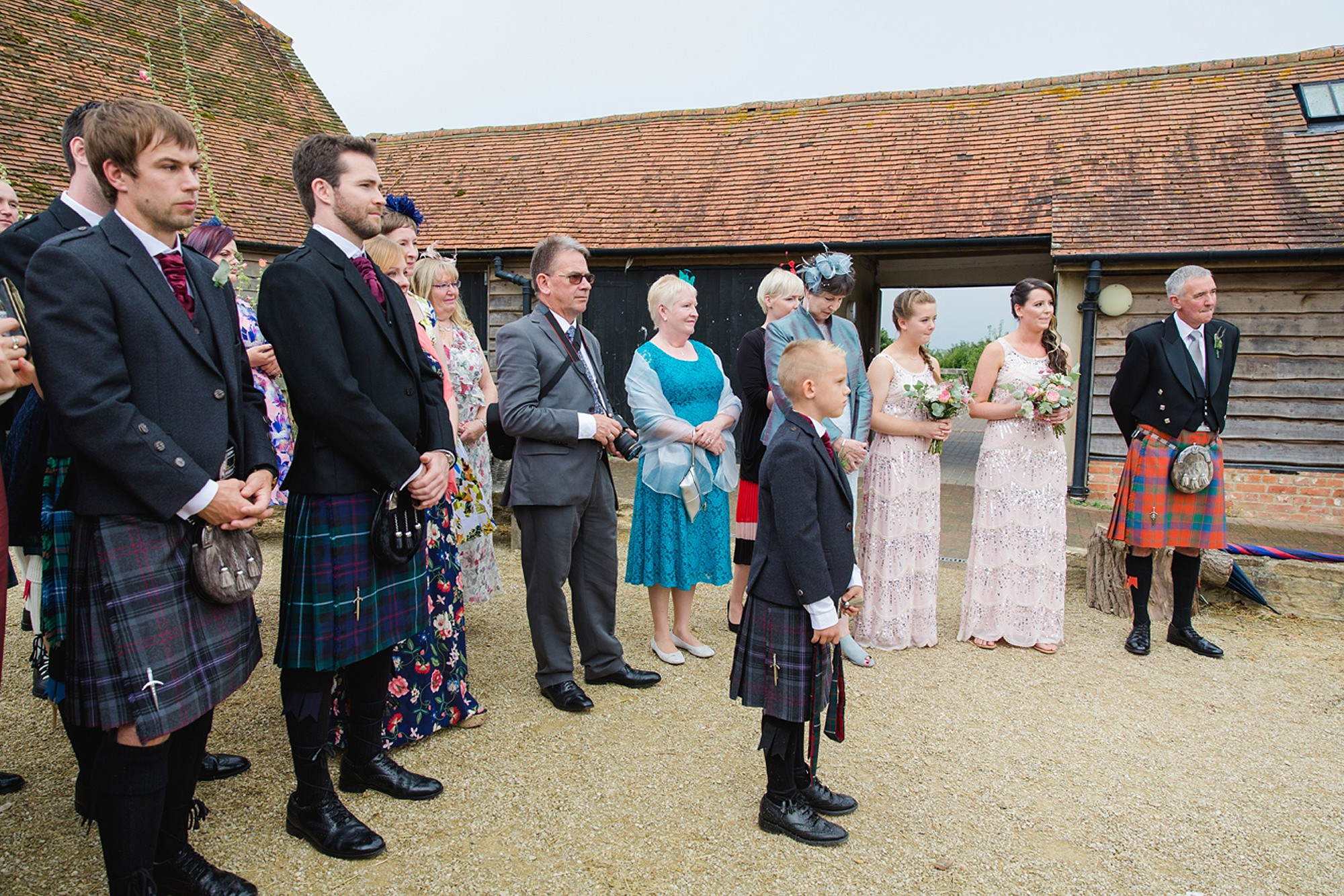 outdoor humanist wedding photography guests watching ceremony