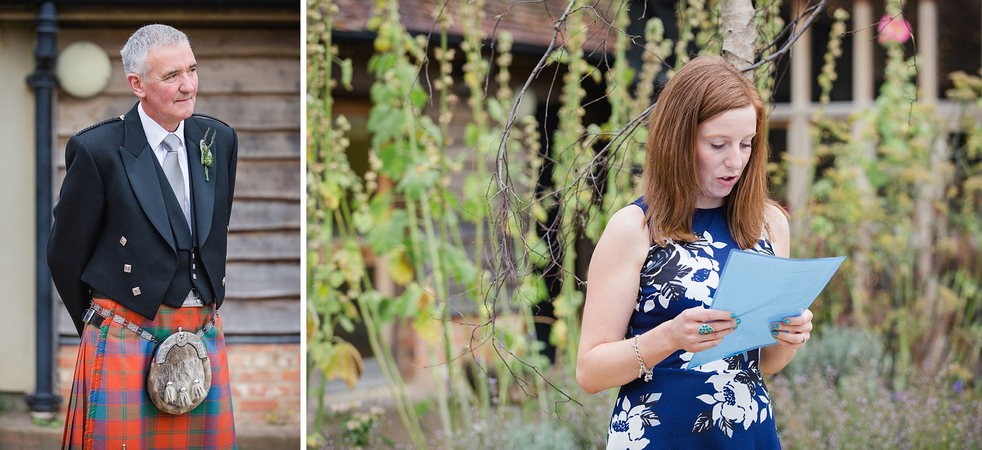 outdoor humanist wedding photography ceremony reading