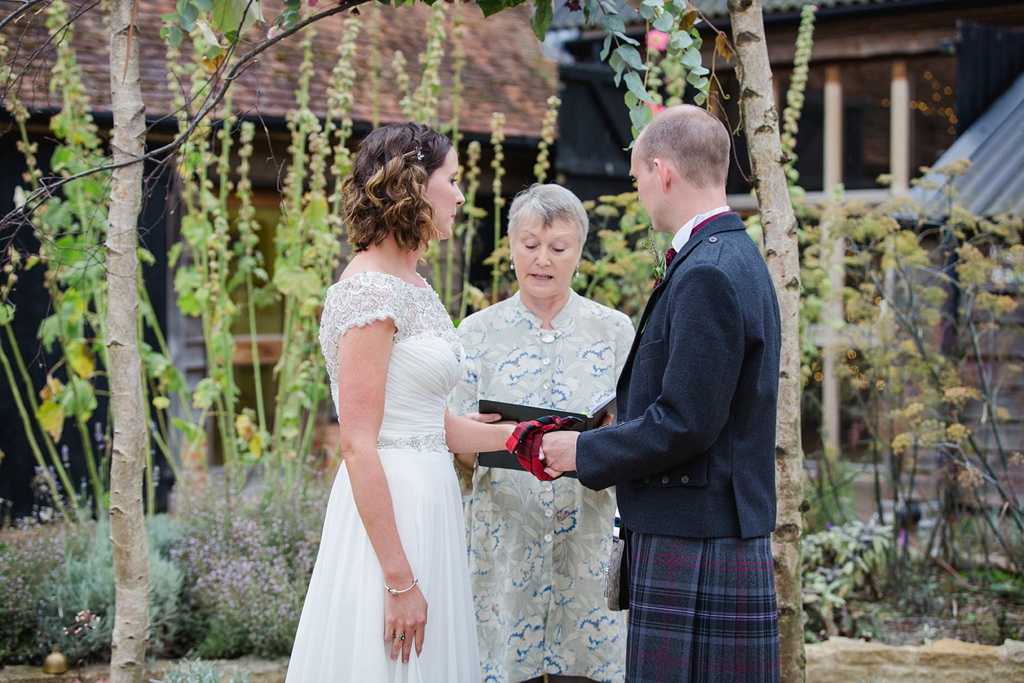 outdoor humanist wedding photography hand fasting blessing