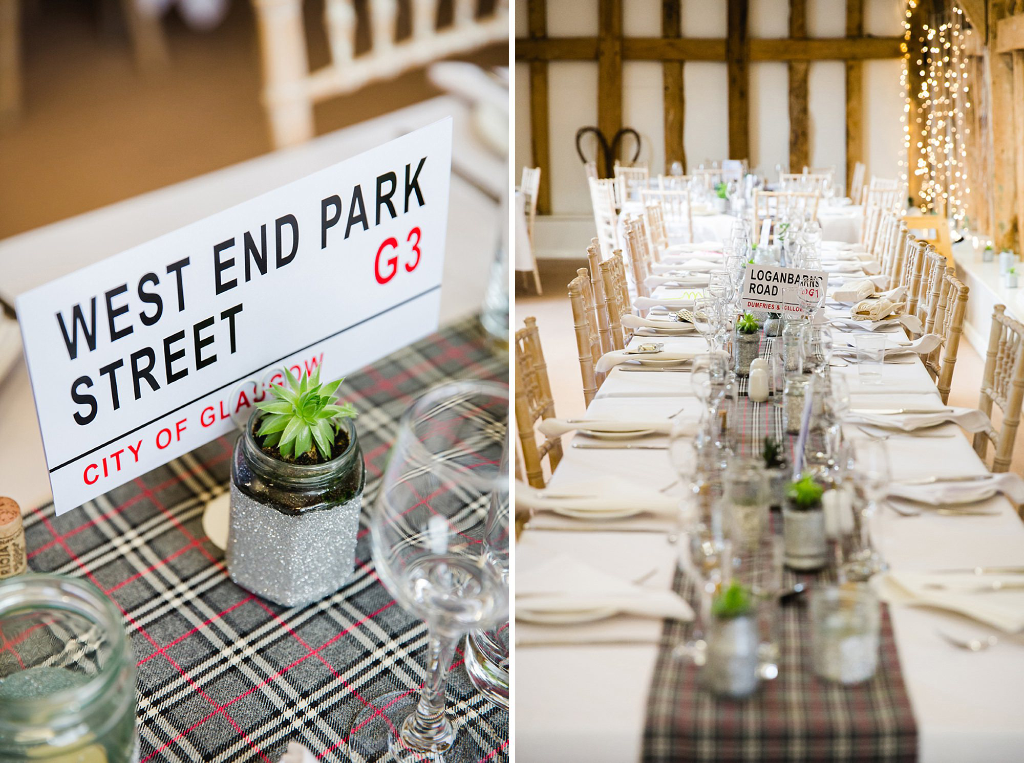 outdoor humanist wedding photography table details