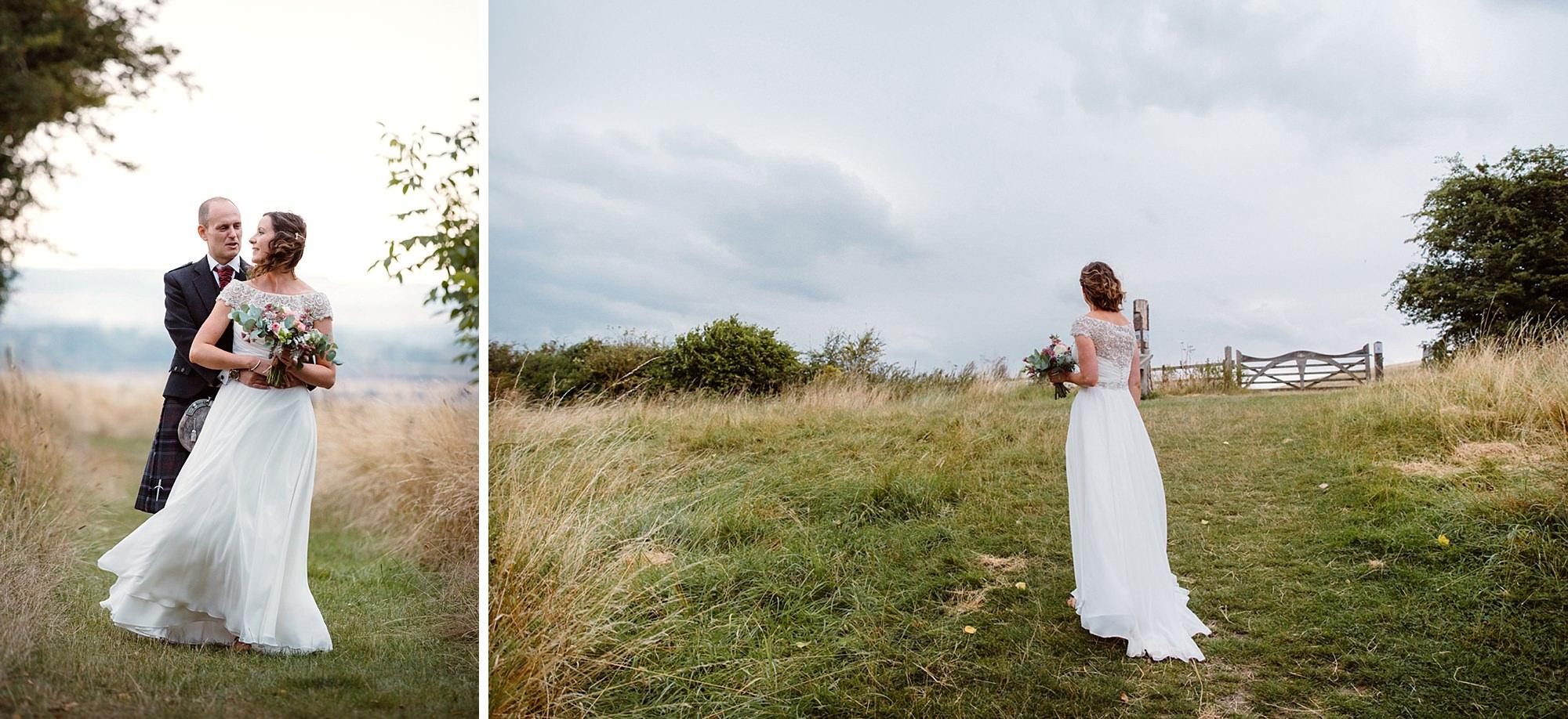 outdoor humanist wedding photography bride and groom