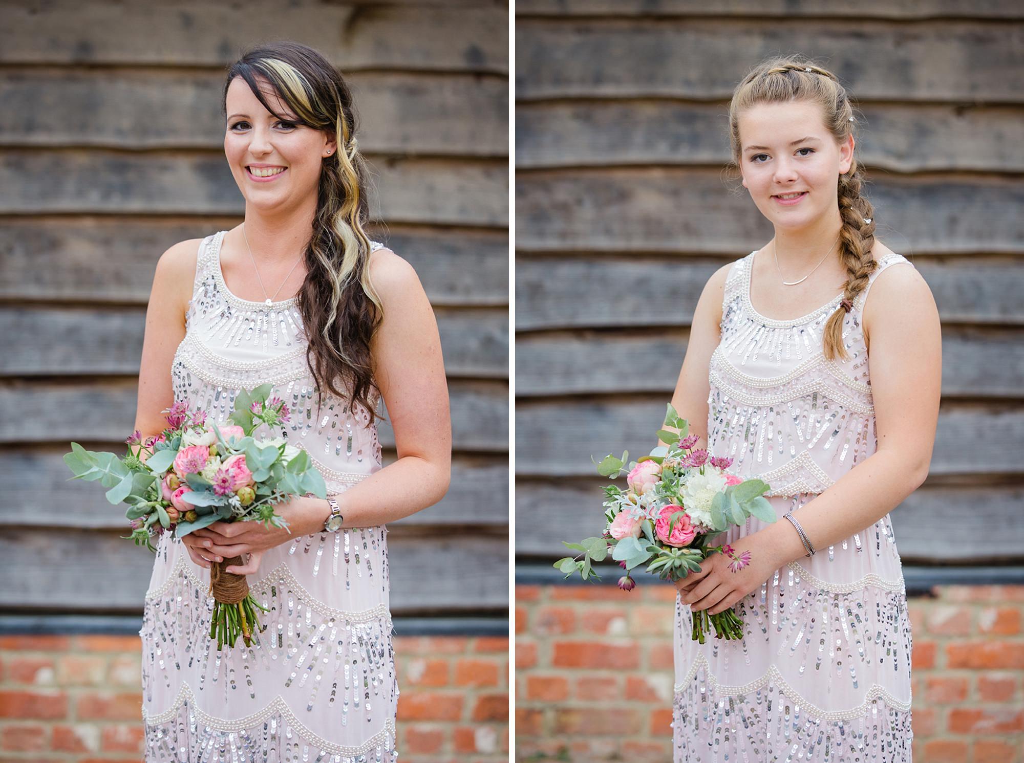 outdoor humanist wedding photography portrait of bridesmaids
