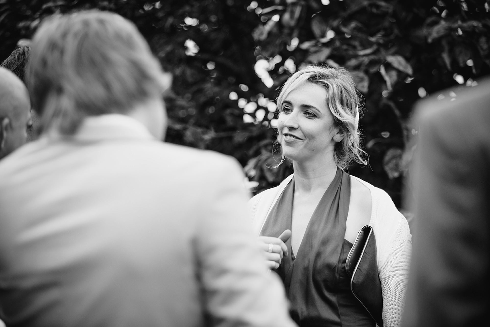 outdoor humanist wedding photography portrait of wedding guest