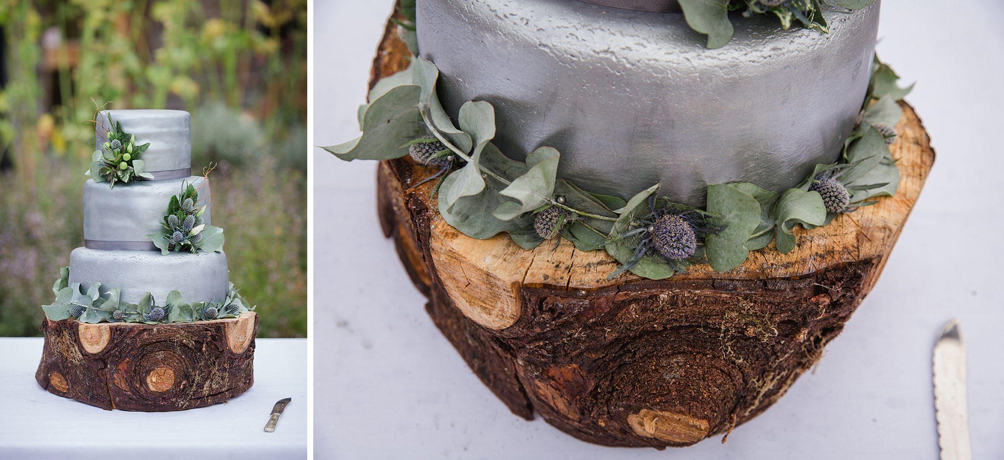 outdoor humanist wedding photography wedding cake