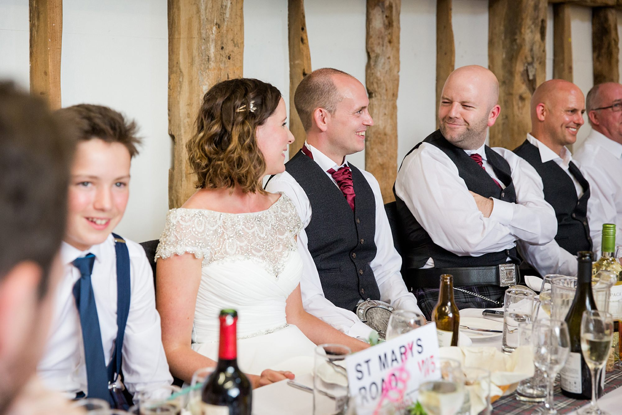 outdoor humanist wedding photography groom pulling funny face